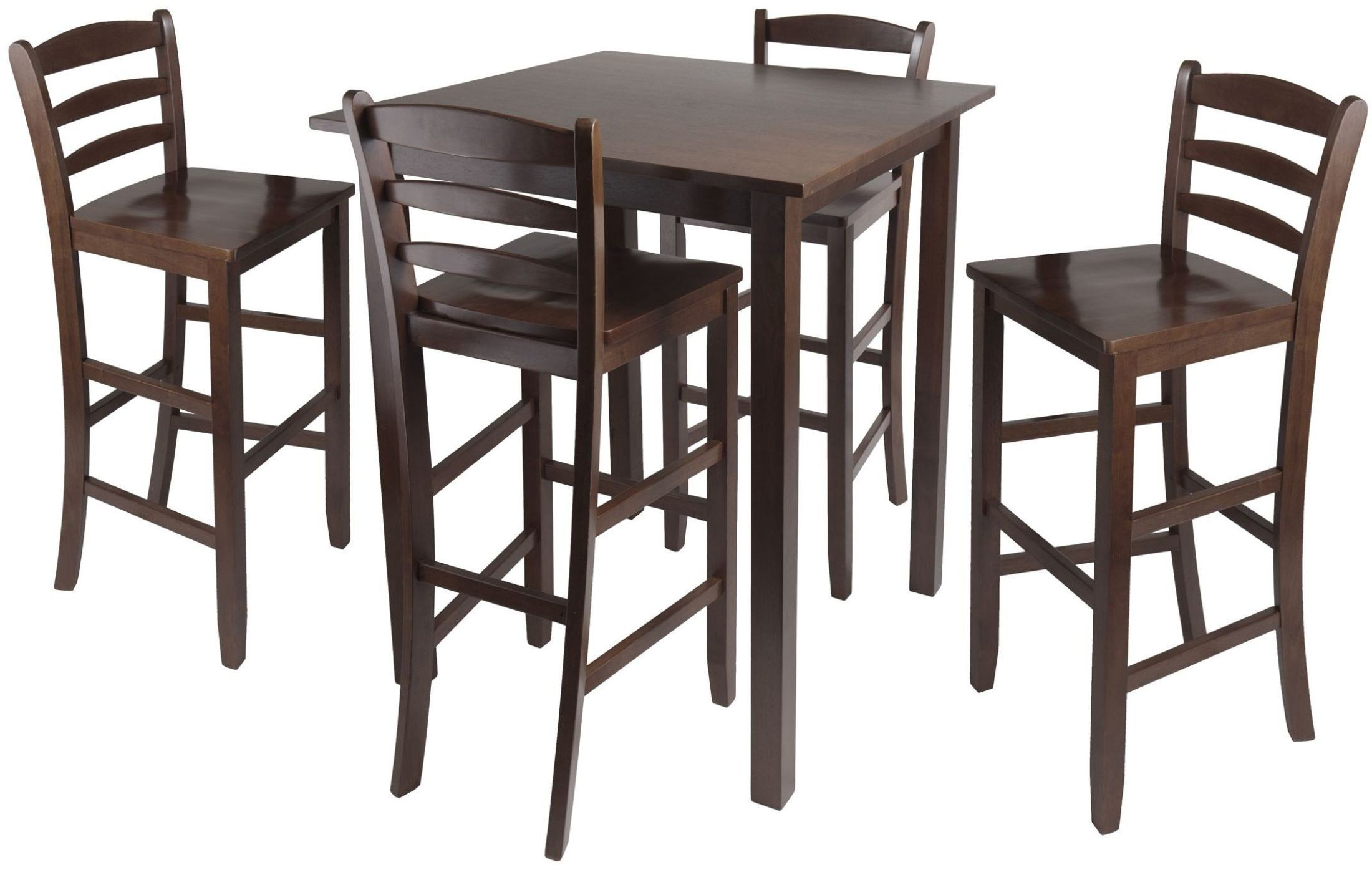 Parkland Walnut 5 Piece Counter Height Dining Set With