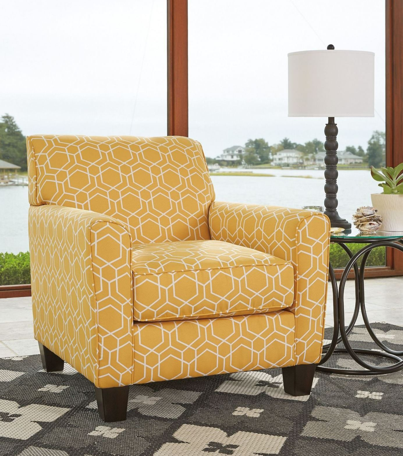 Ayanna Nuvella Gold Accent Chair From Ashley Coleman