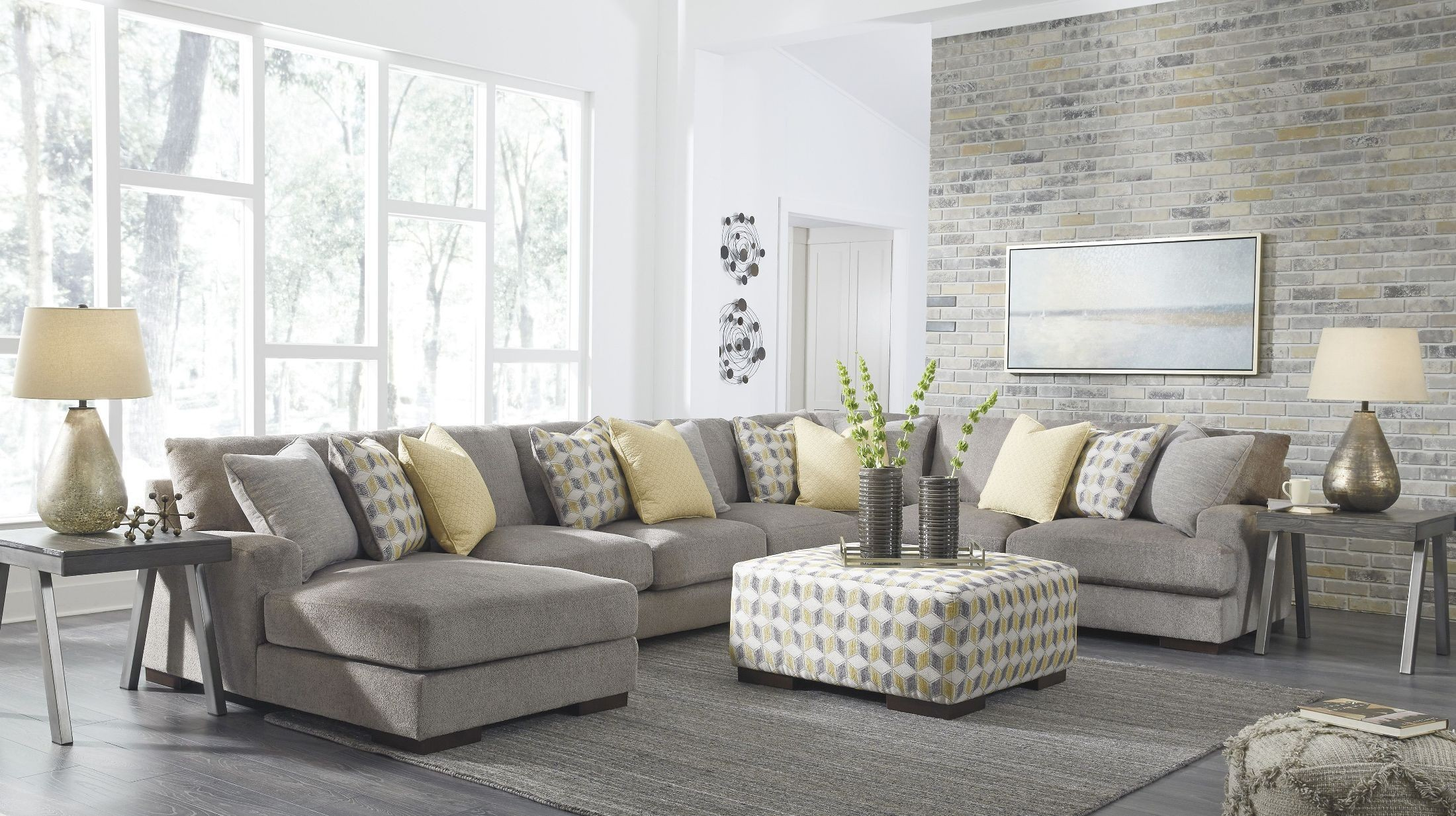 Fallsworth Smoke Laf Large Sectional From Ashley Coleman