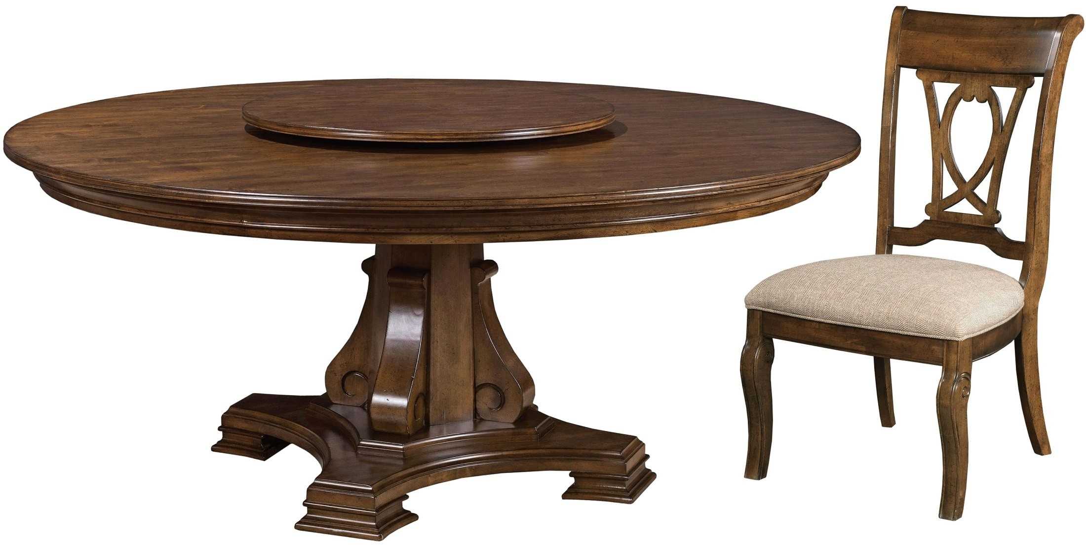 portolone 72quot round dining room set from kincaid 95053t