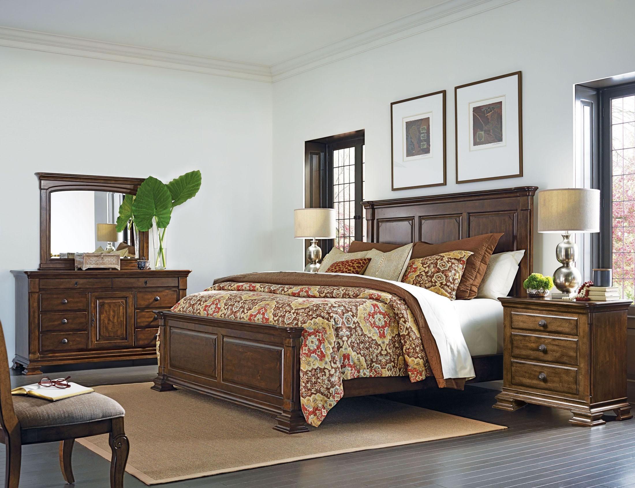 portolone monteri panel bedroom set from kincaid furniture coleman furniture. Black Bedroom Furniture Sets. Home Design Ideas