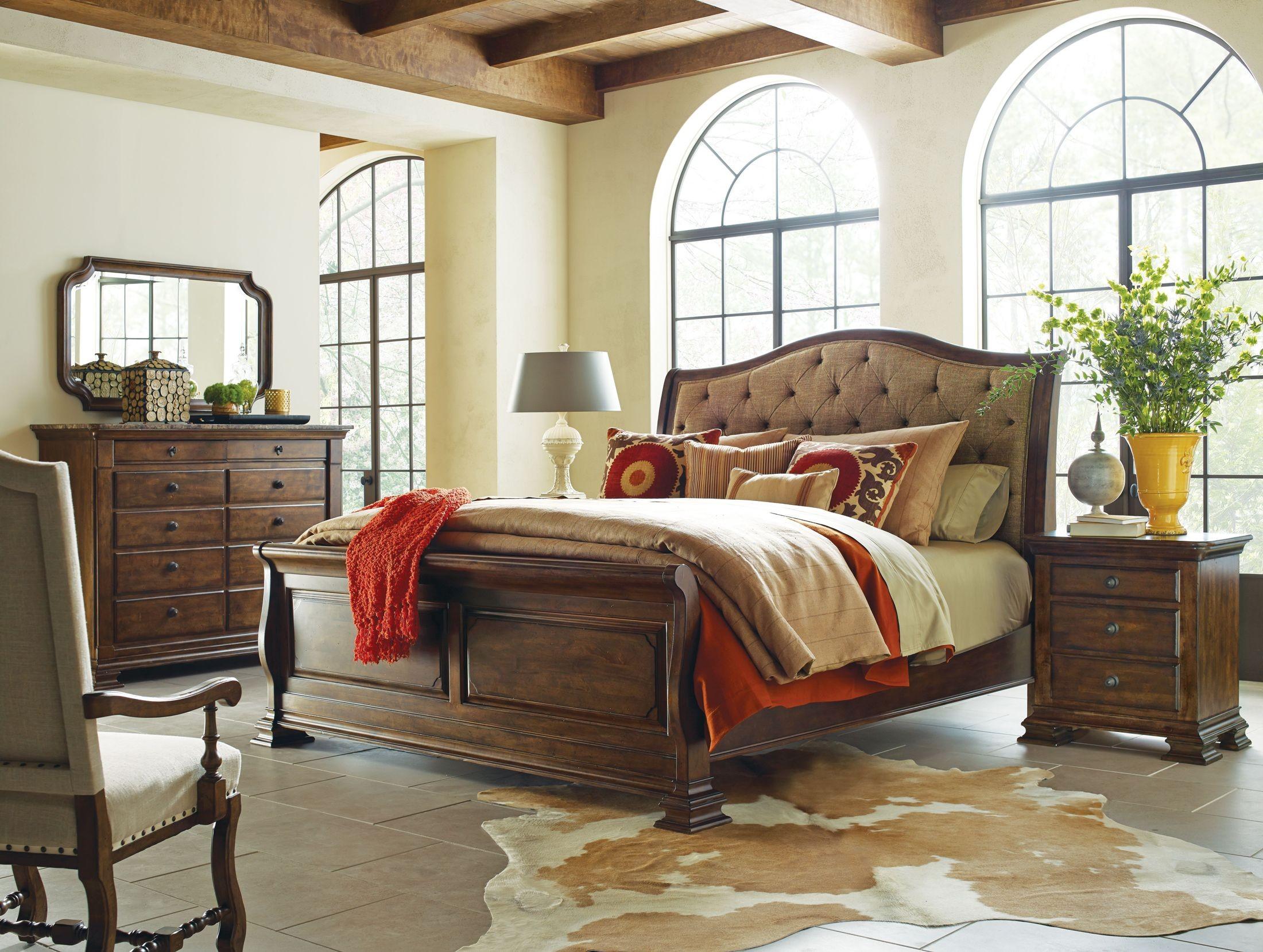 Beau Portolone Herringbone Sleigh Bedroom Set From Kincaid Furniture | Coleman  Furniture