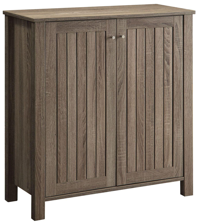 Weathered Grey Door Shoe Cabinet From Coaster 950551