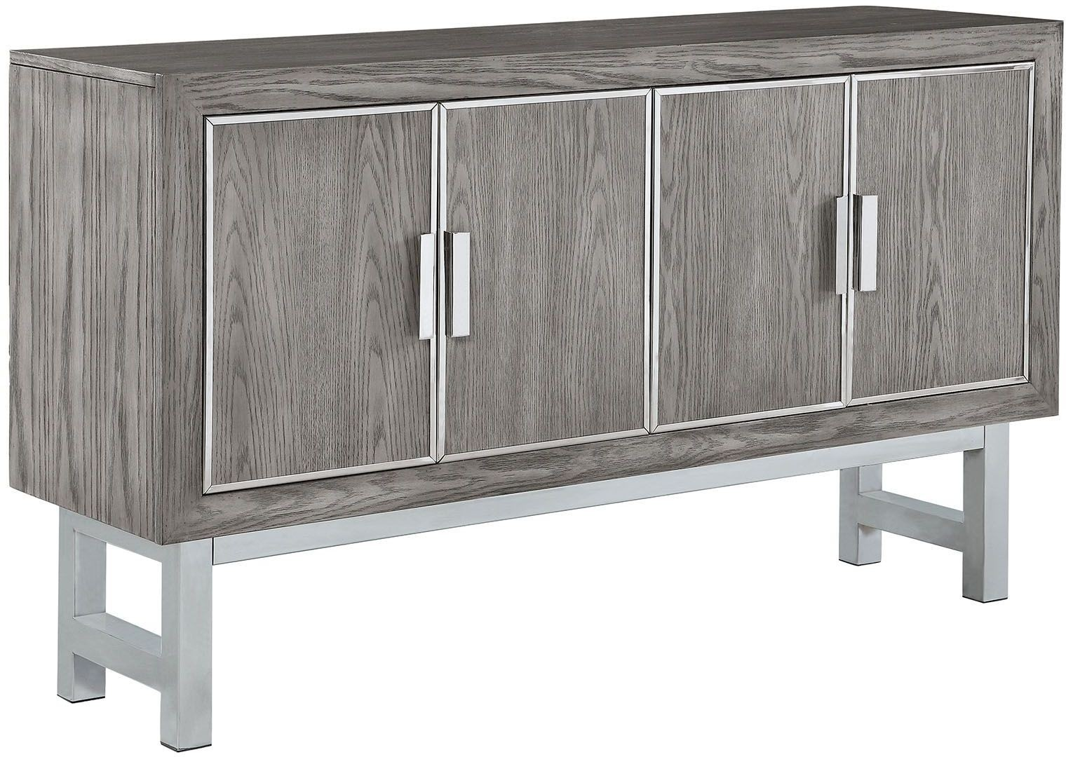 Grey Accent 4 Door Cabinet By Donny Osmond From Coaster