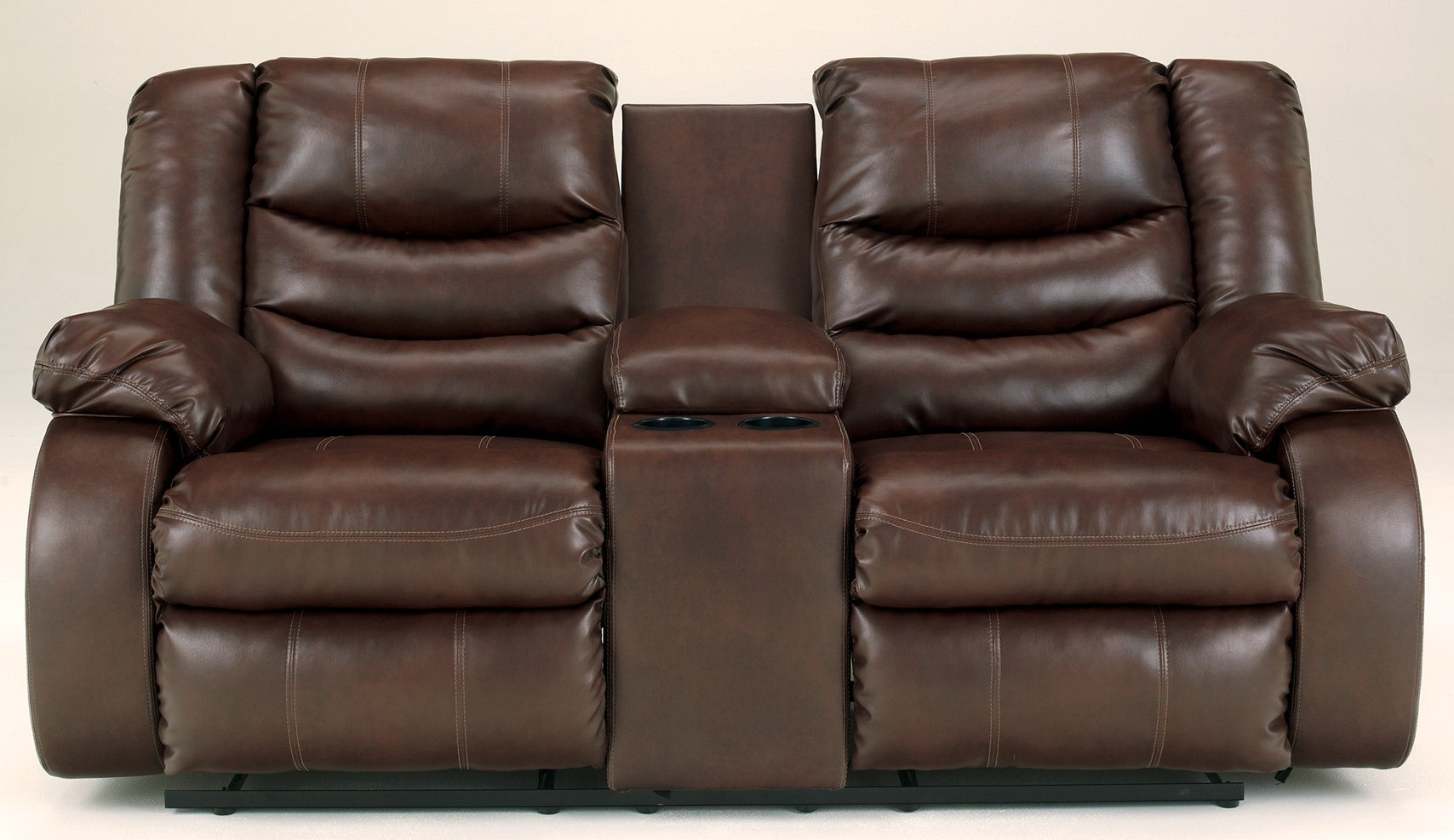 Linebacker Durablend Espresso Reclining Loveseat With