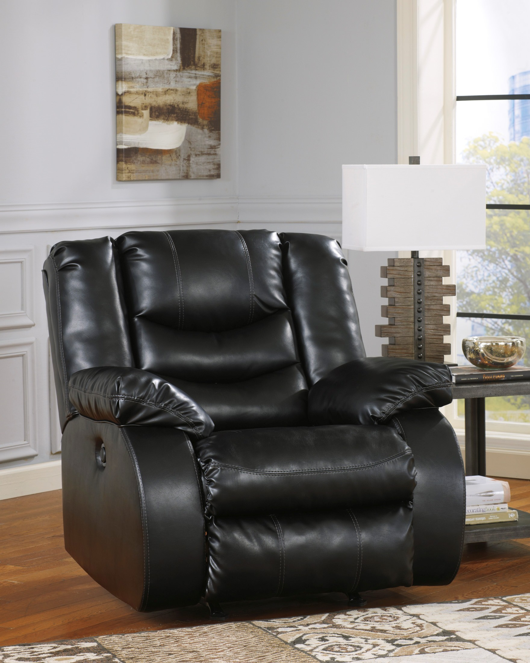 LineBacker DuraBlend Black Reclining Living Room Set From Ashley  (95202 88 94) | Coleman Furniture