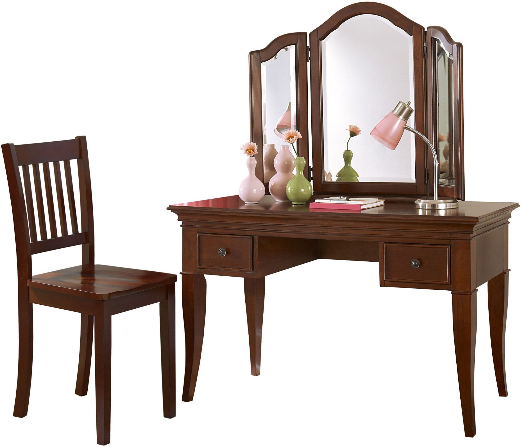 Walnut Street Chestnut Desk With Mirror & Chair from NE ...