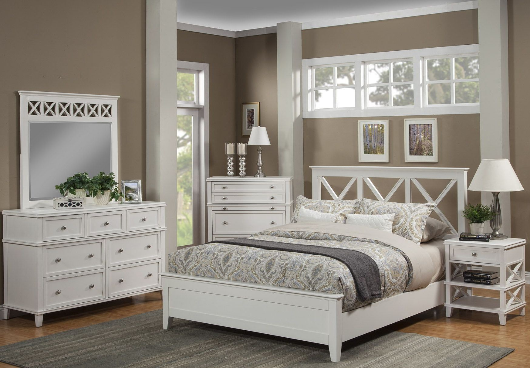 Potter White Youth Panel Bedroom Set From Alpine Coleman Furniture