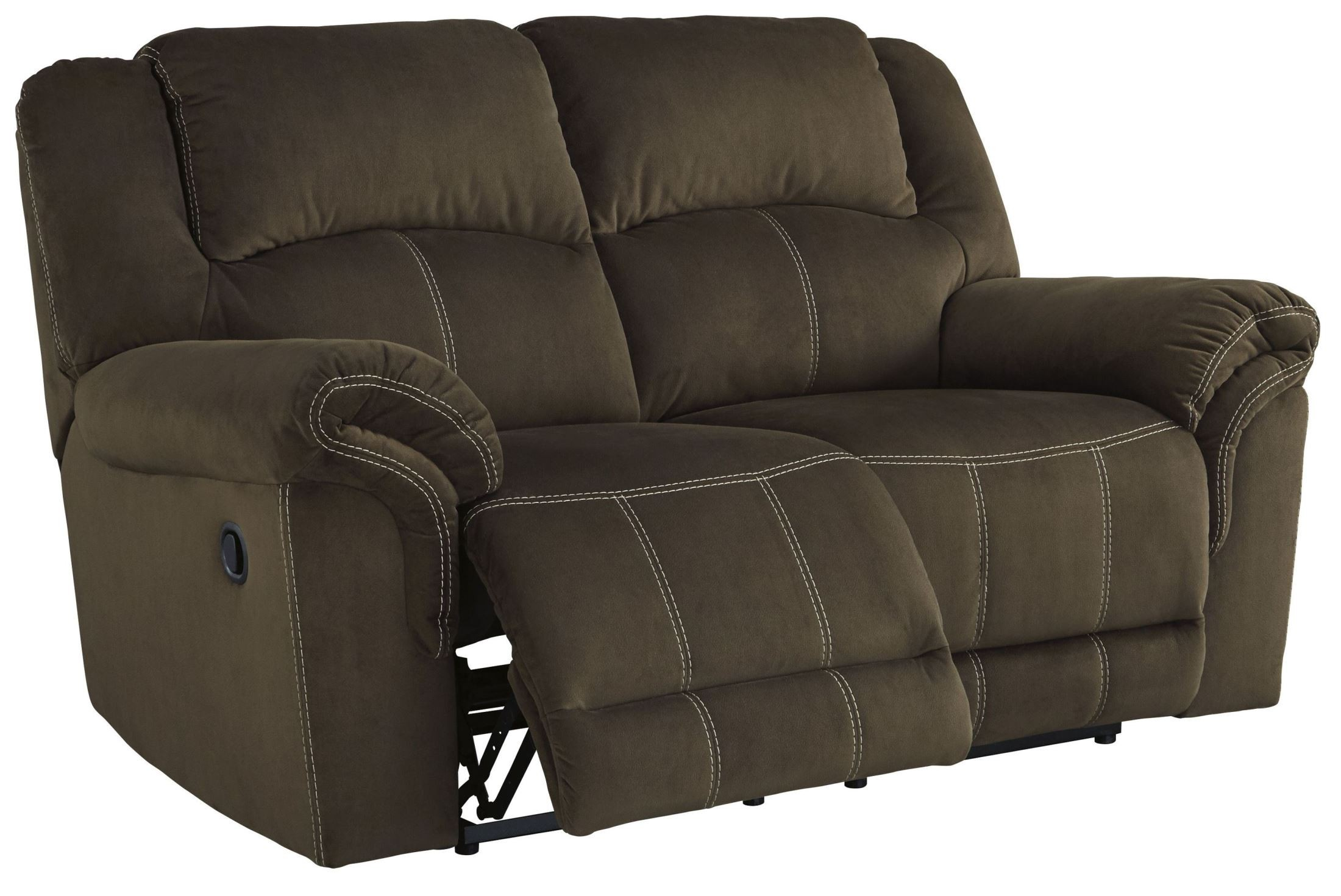 Quinnlyn Coffee Reclining Loveseat From Ashley 9570186
