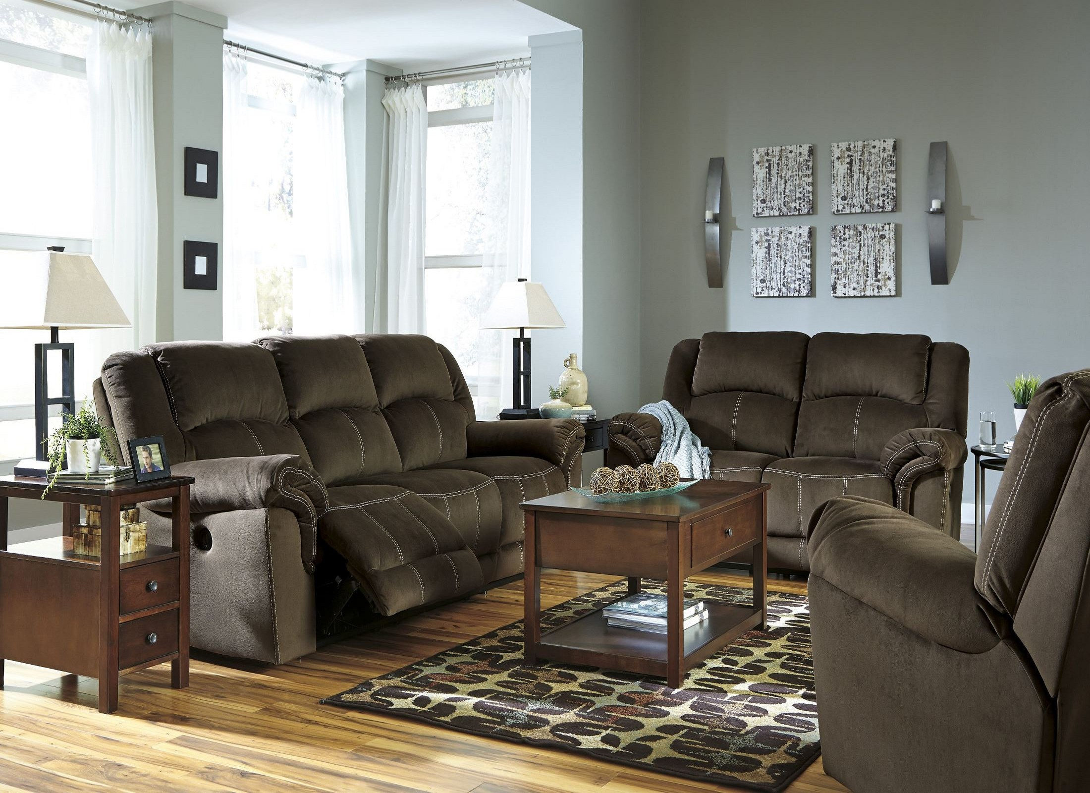 quinnlyn coffee reclining living room set from ashley 9570188 coleman furniture. Black Bedroom Furniture Sets. Home Design Ideas