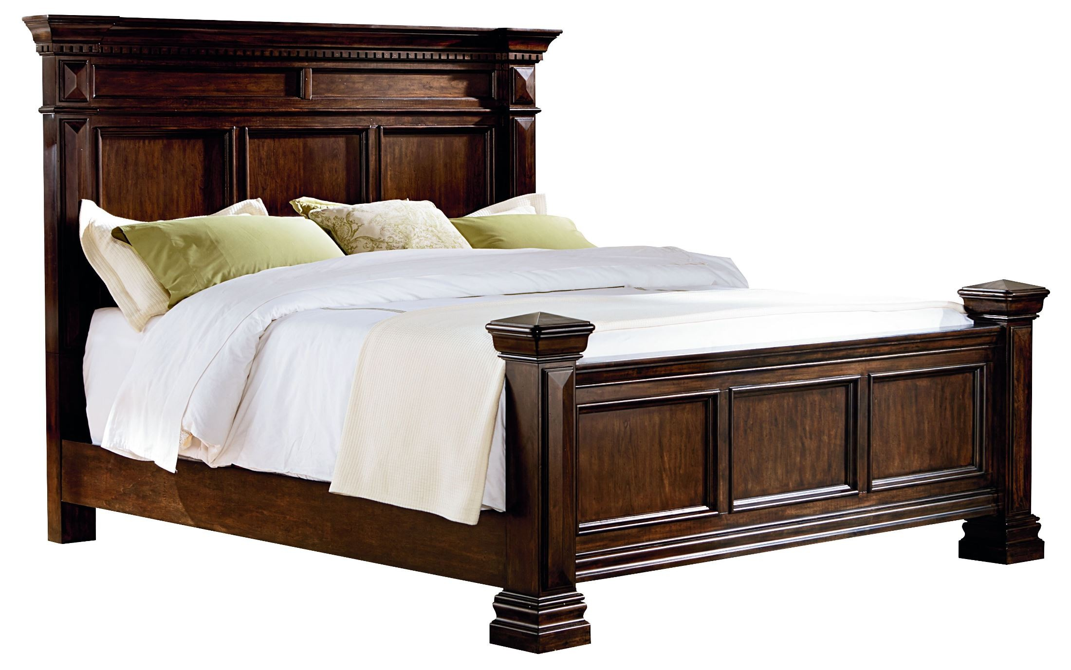 Charleston Burnished Tobacco King Panel Bed From Standard