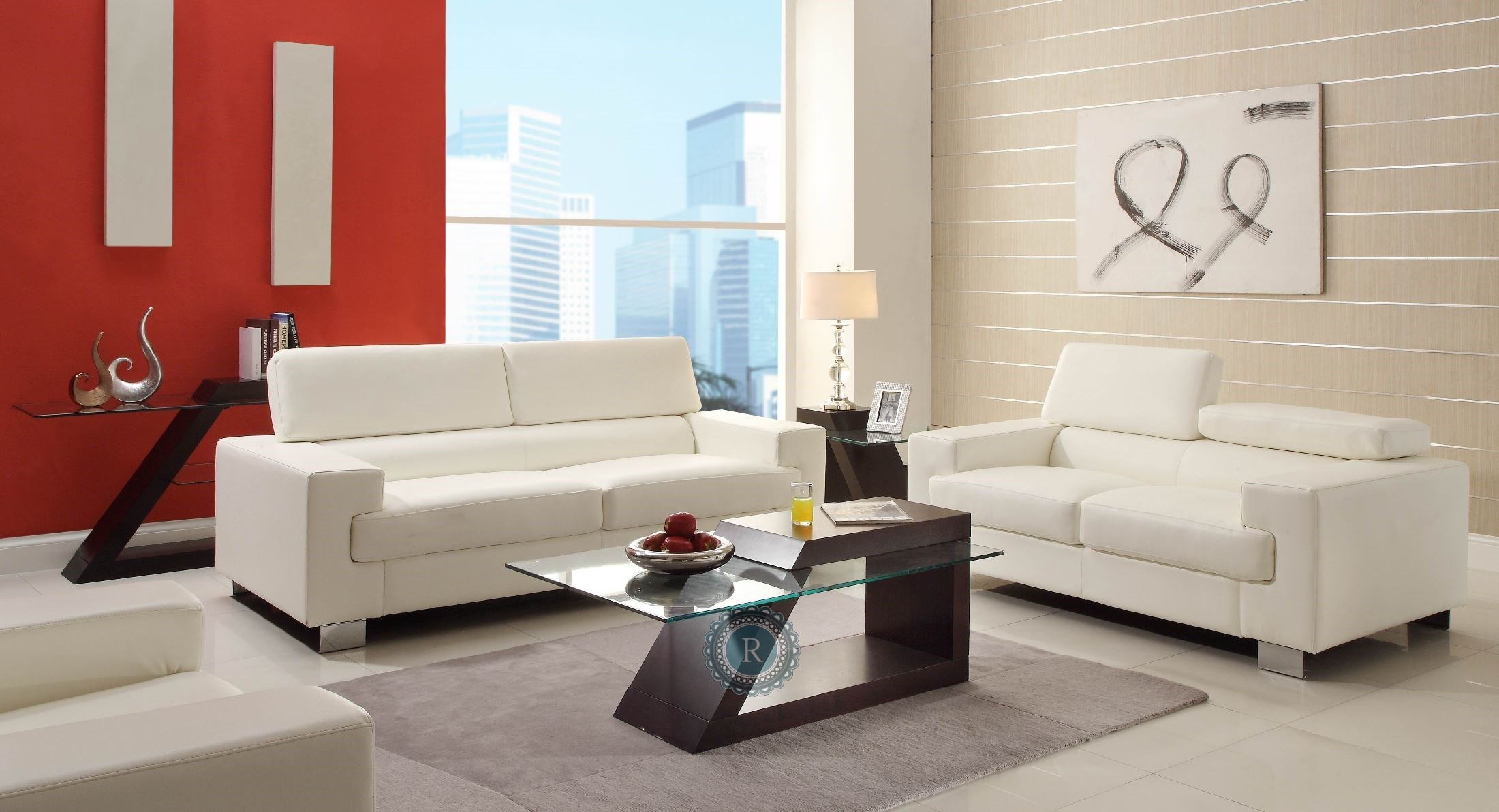 Vernon white living room set from homelegance 9603wht 3 2 - Living rooms with white furniture ...