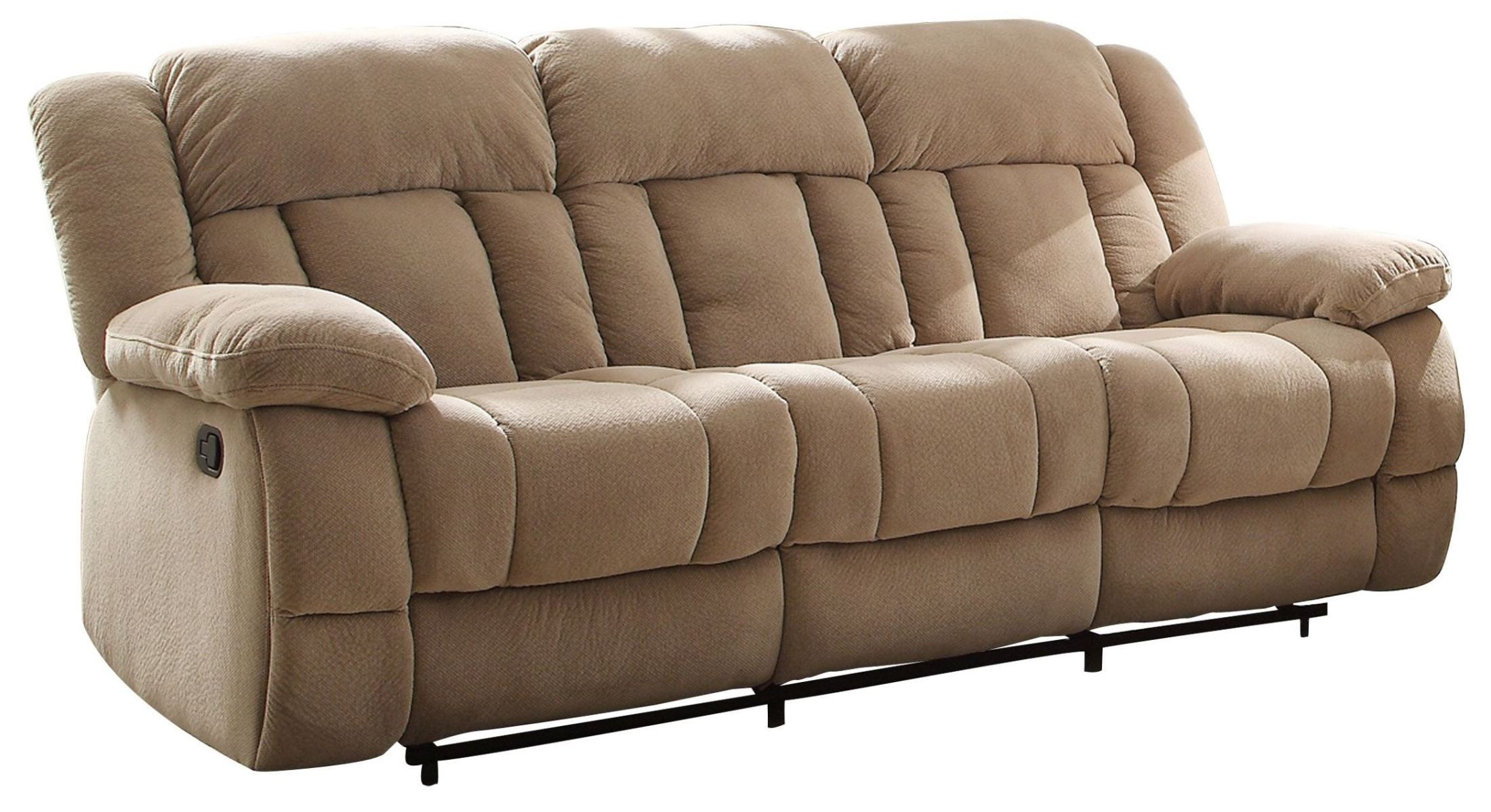 Laurelton Taupe Double Reclining Sofa From Homelegance