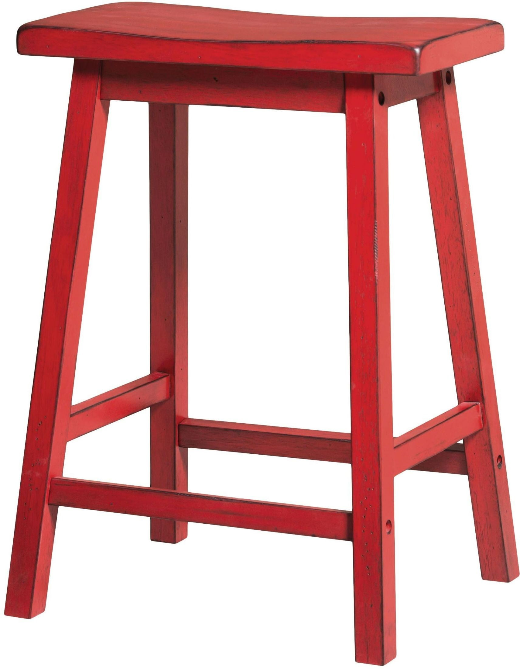 Gaucho Antique Red Counter Height Stool Set Of 2 From ACME Furniture |  Coleman Furniture