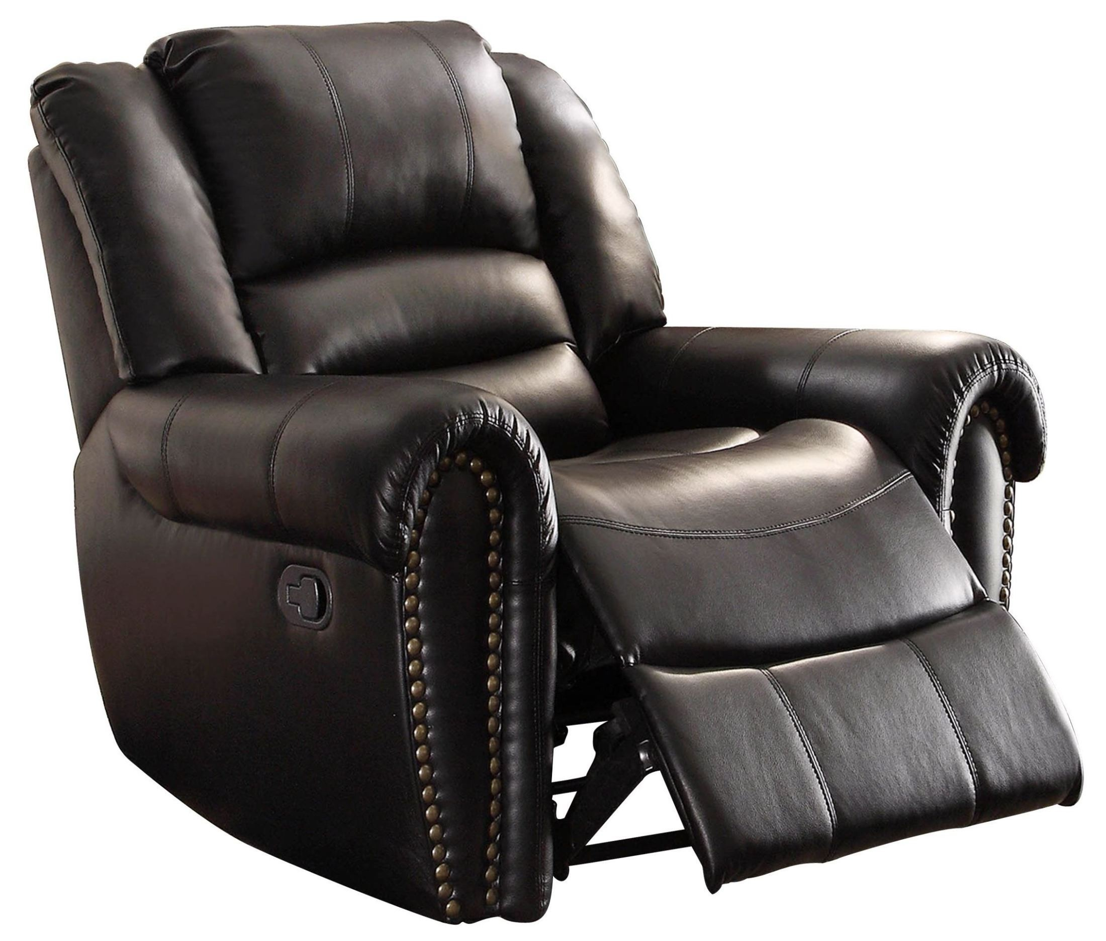 Center hill black glider reclining chair from homelegance 9668blk 1 coleman furniture