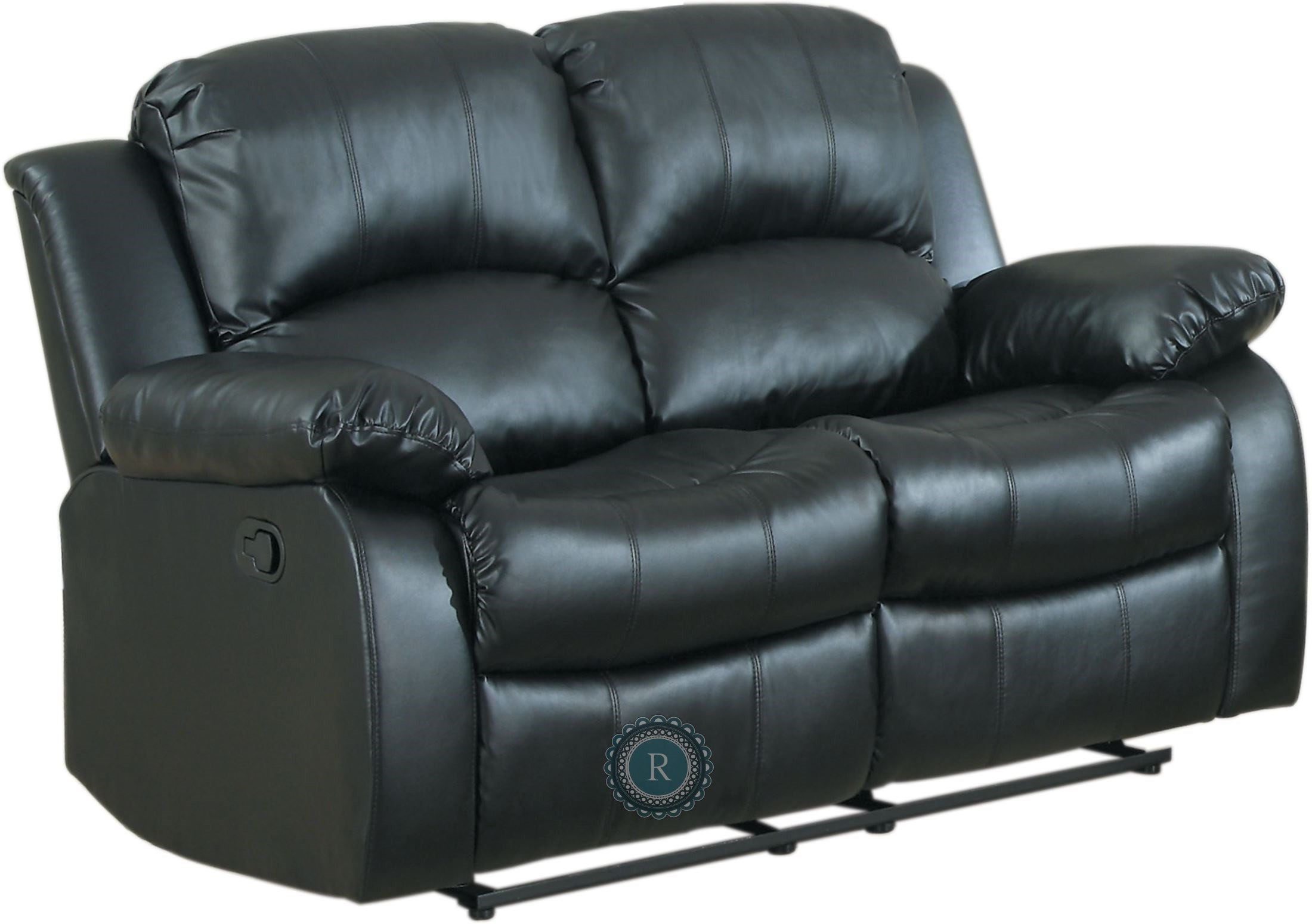 Cranley Black Power Double Reclining Loveseat From