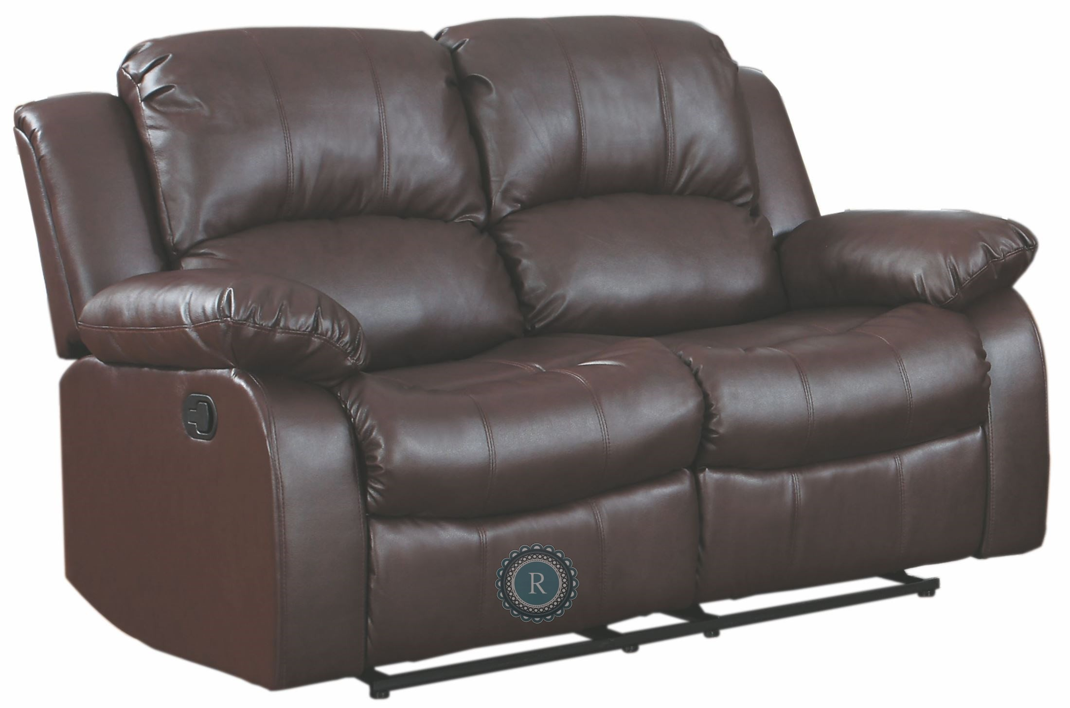 Cranley Brown Power Double Reclining Loveseat From Homelegance 9700brw 2pw Coleman Furniture