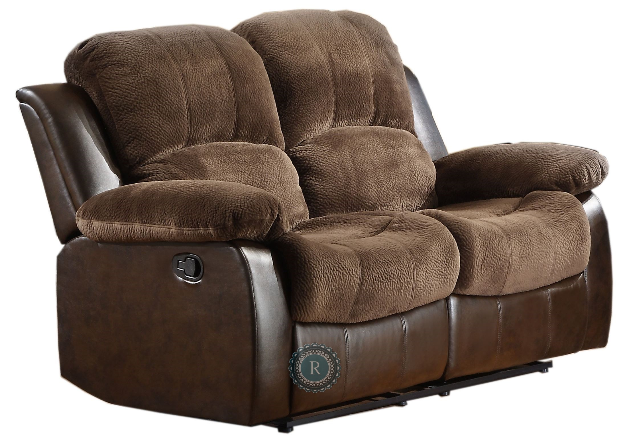 Cranley Dark Brown Double Reclining Loveseat From Homelegance 9700fcp 2 Coleman Furniture