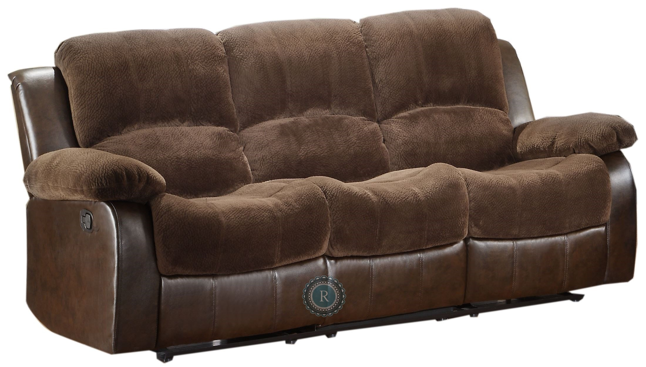 Cranley Dark Brown Double Reclining Sofa From Homelegance