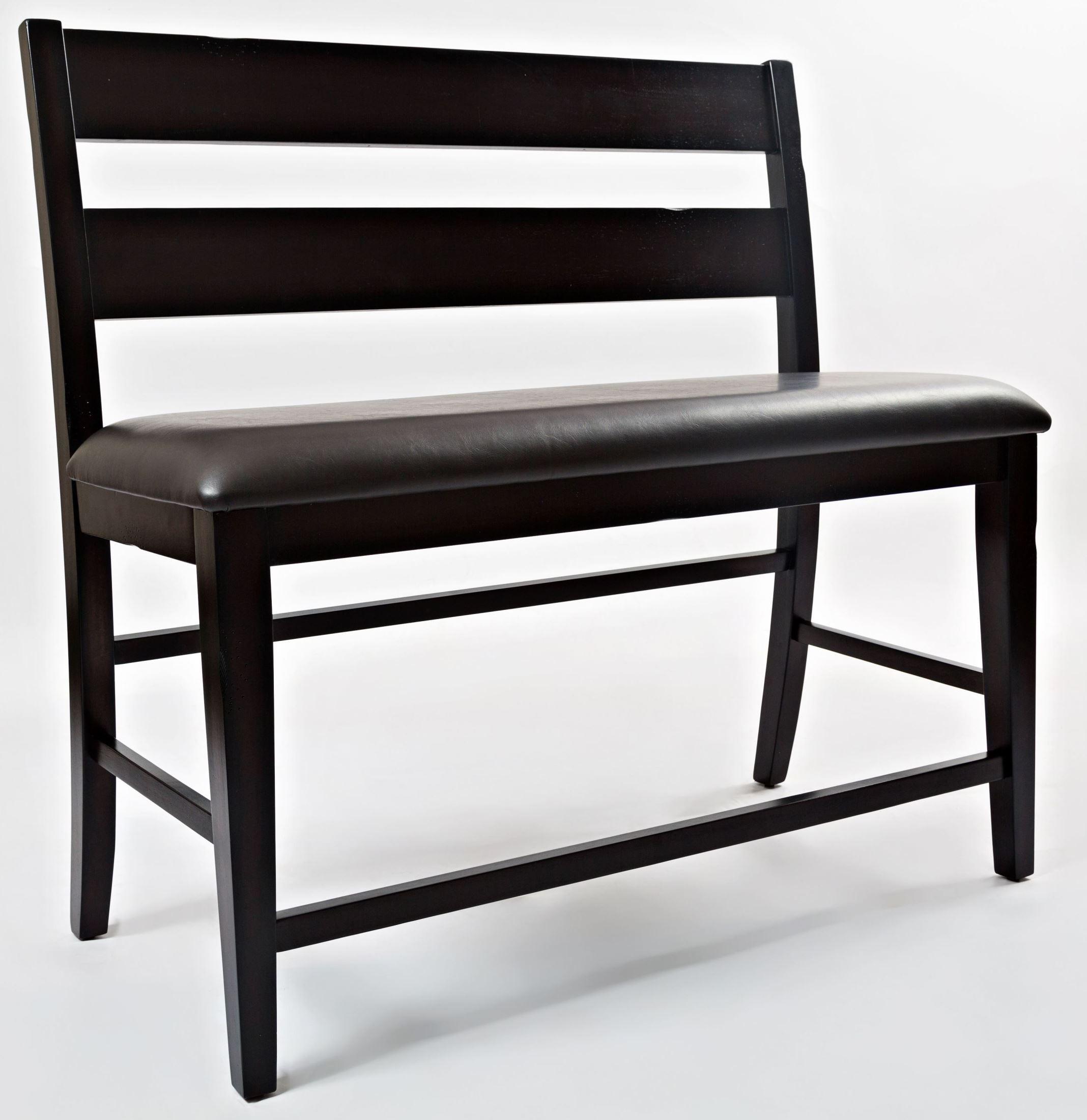Dark Rustic Prairie Counter Height Bench From Jofran Coleman Furniture