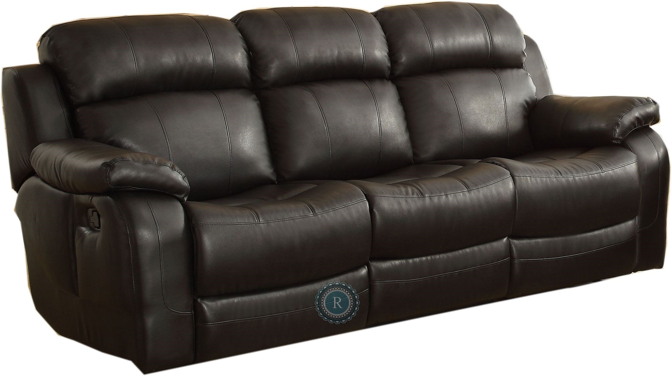 Marille black double reclining sofa with center drop down cup holders from homelegance 9724blk Loveseat with cup holders