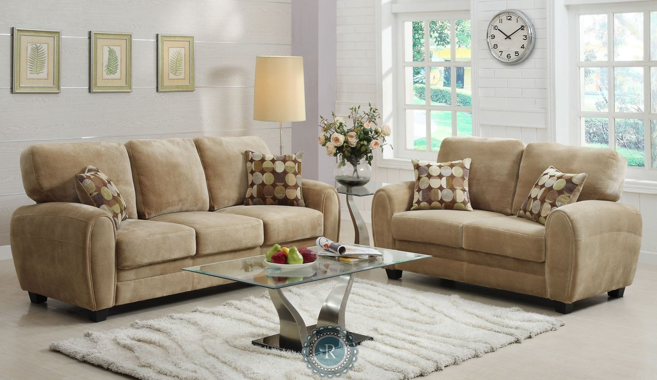 Rubin brown living room set from homelegance 9734br 3 2 for Brown living room set