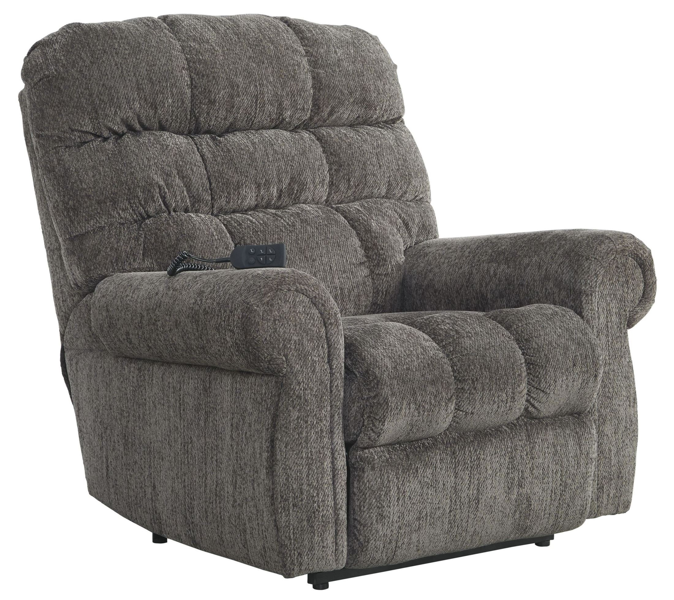 Furniture Store For Sale: Ernestine Slate Power Lift Recliner From Ashley (9760112