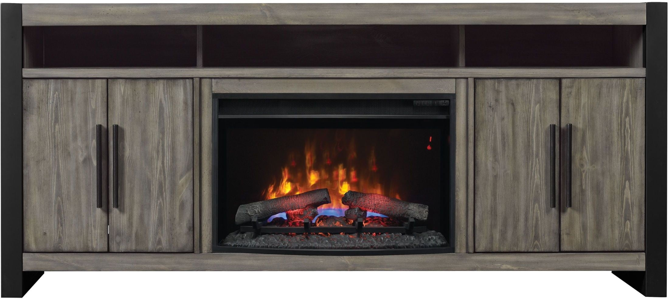 Classicflame Spanish Gray Costa Mesa Tv Stand With 26 Electric Fireplace From Twin Star