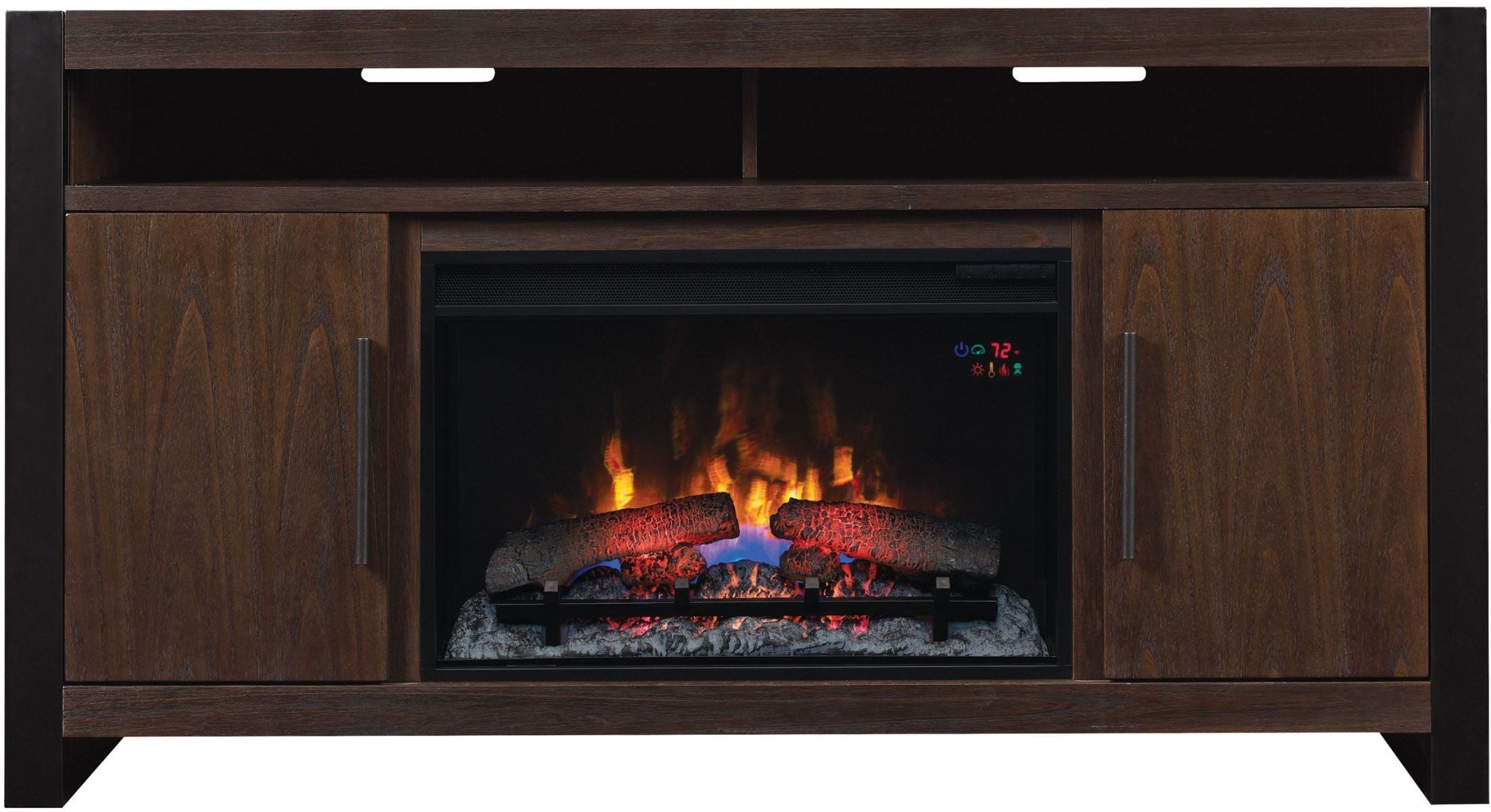 Classicflame Antique Coffee Costa Mesa Tv Stand With 26 Electric Fireplace From Twin Star