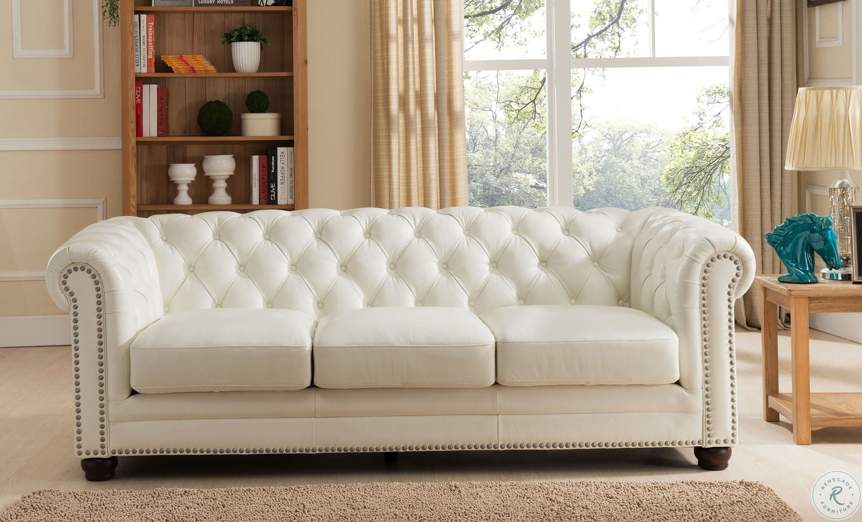 Excellent Monaco Pearl White Leather Sofa Pdpeps Interior Chair Design Pdpepsorg
