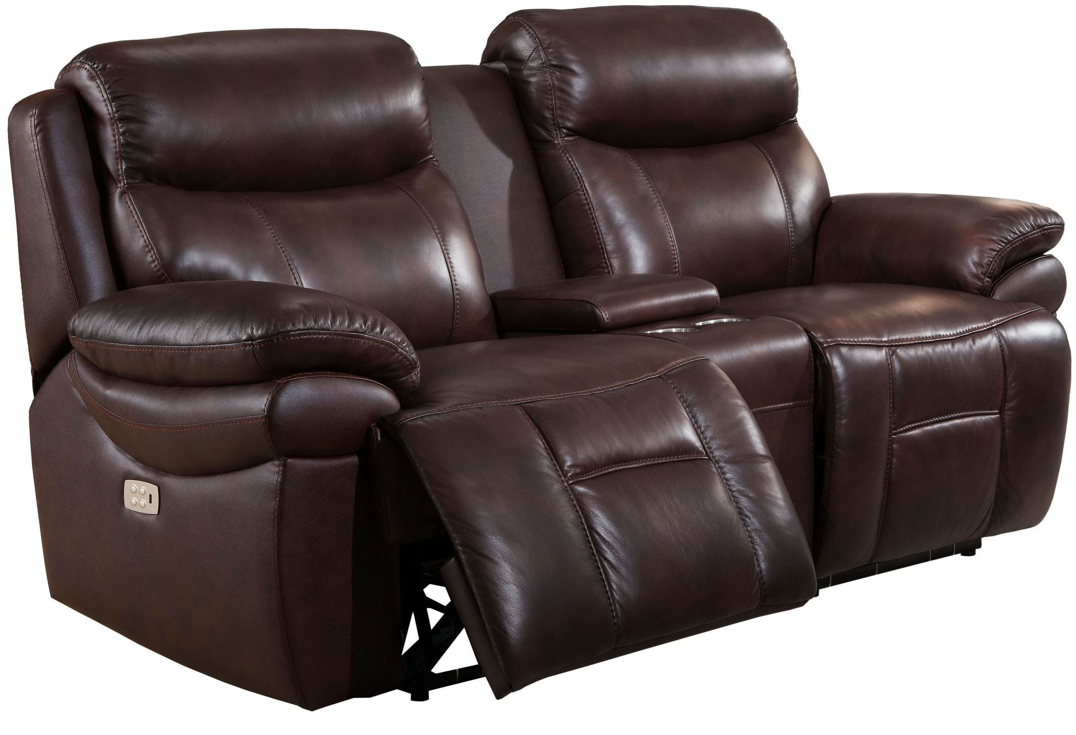 Summerlands Ii Brown Adjustable Headrest Power Reclining