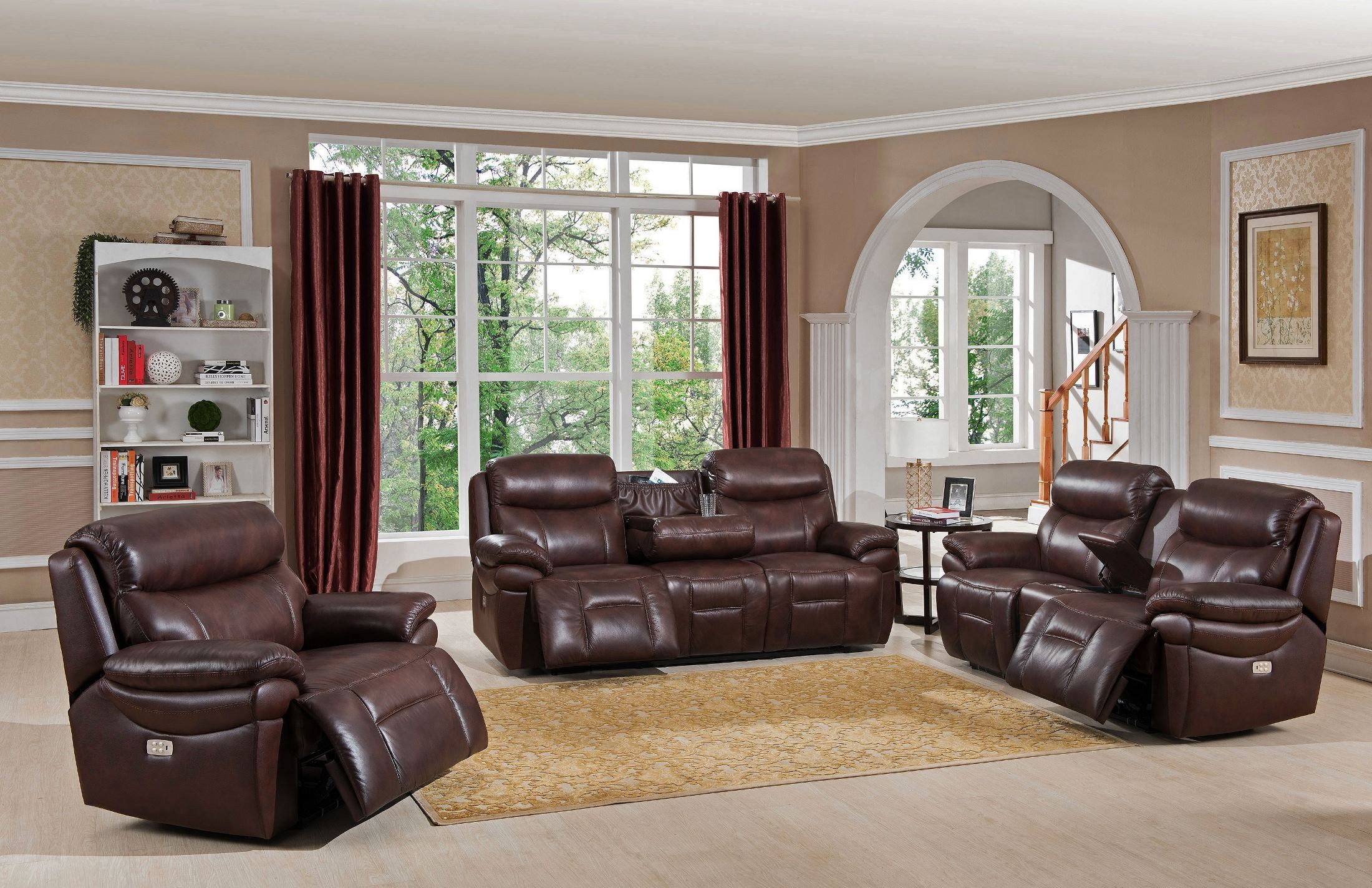 Summerlands II Brown Headrest Power Reclining Living Room Set : reclining living room - islam-shia.org