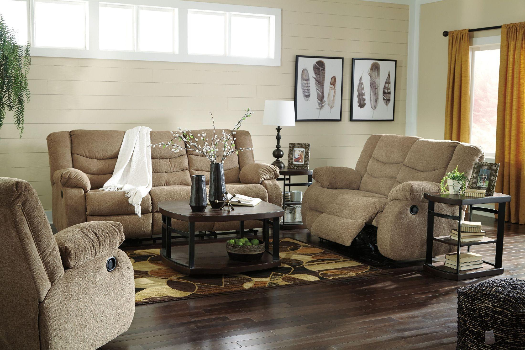 Tulen Mocha Reclining Living Room Set From Ashley