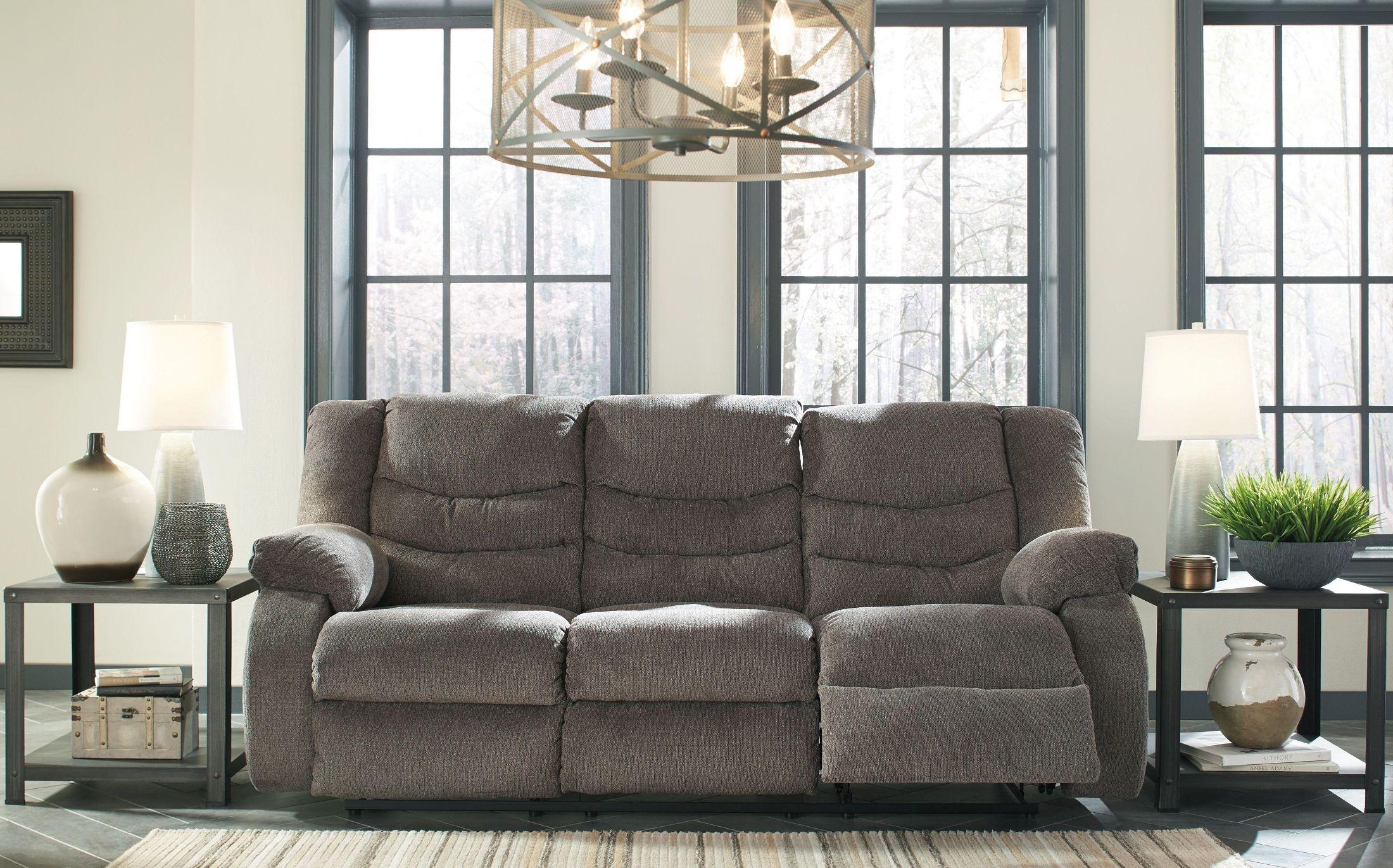 Tulen Gray Reclining Sofa