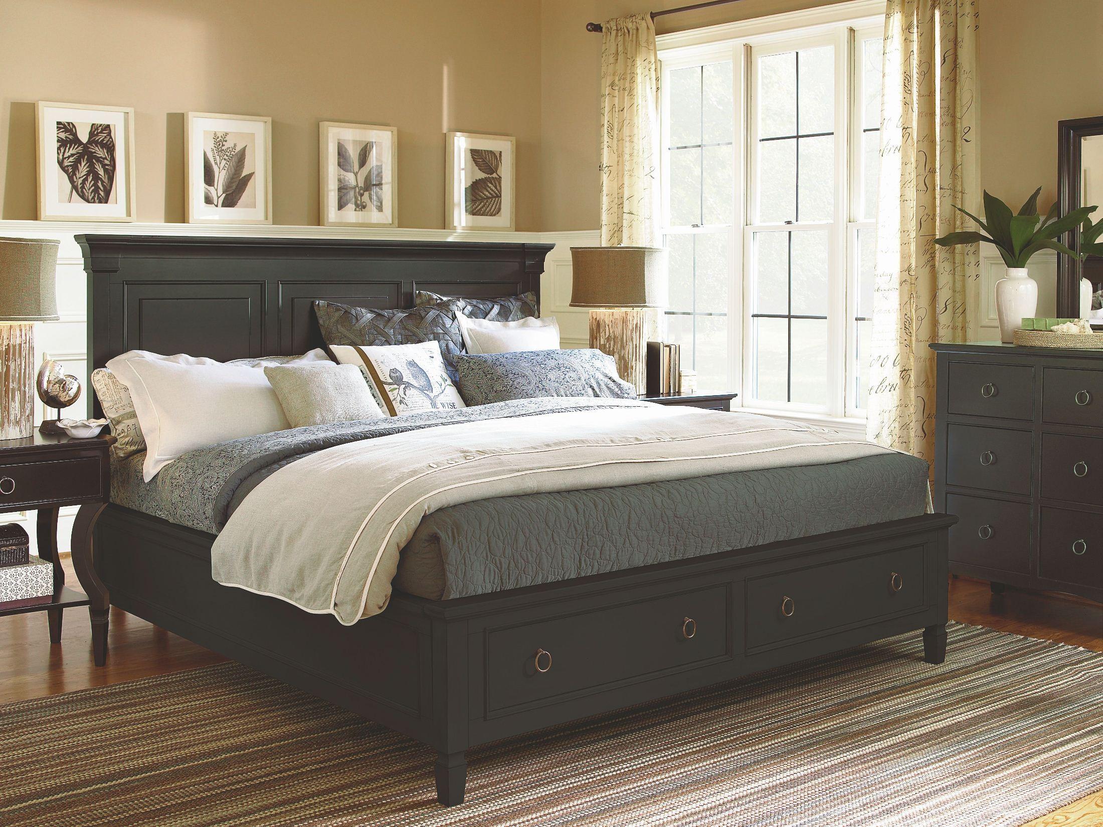 summer hill brown panel storage bedroom set from universal 988250sb coleman furniture. Black Bedroom Furniture Sets. Home Design Ideas