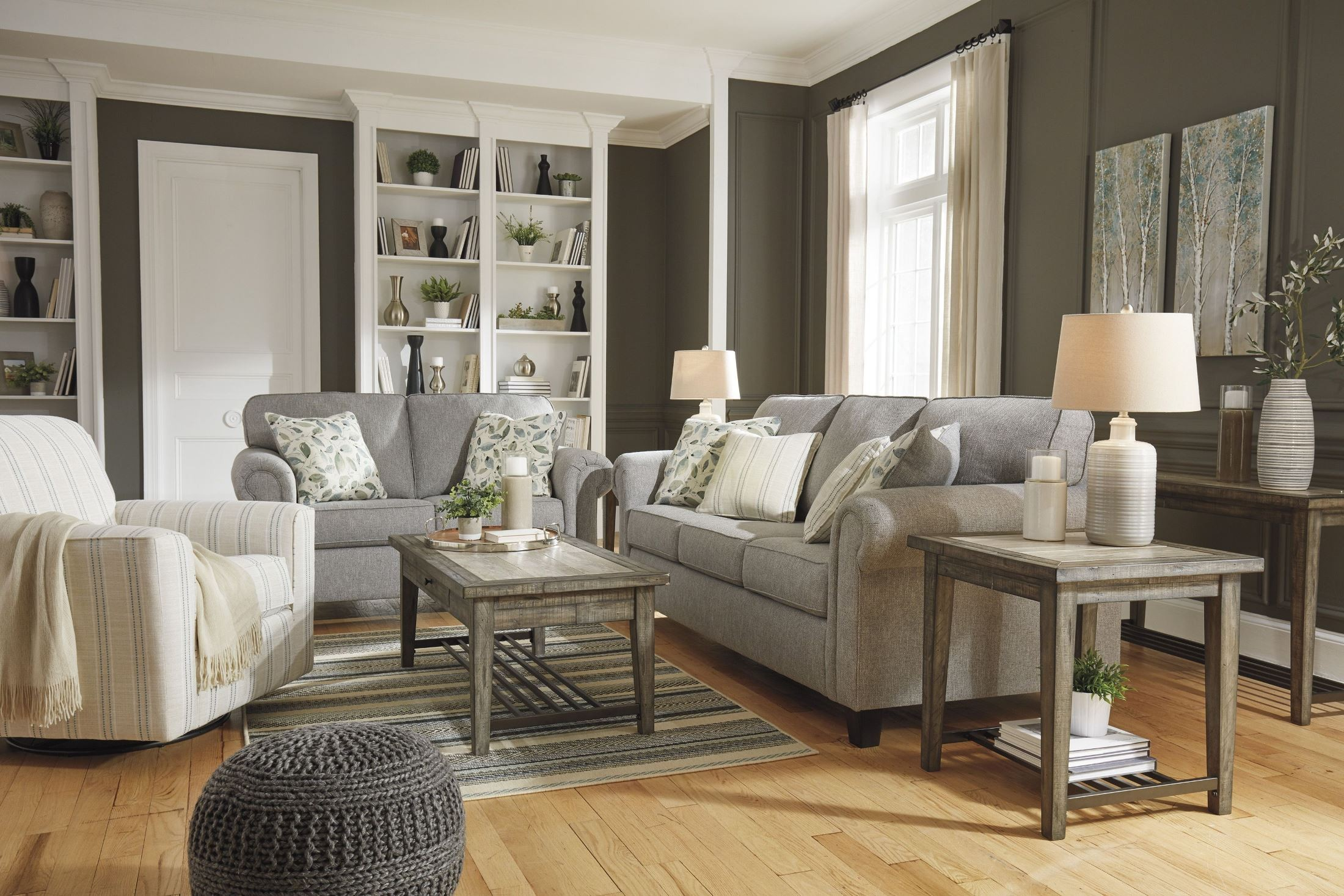 Alandari Gray Living Room Set From Ashley
