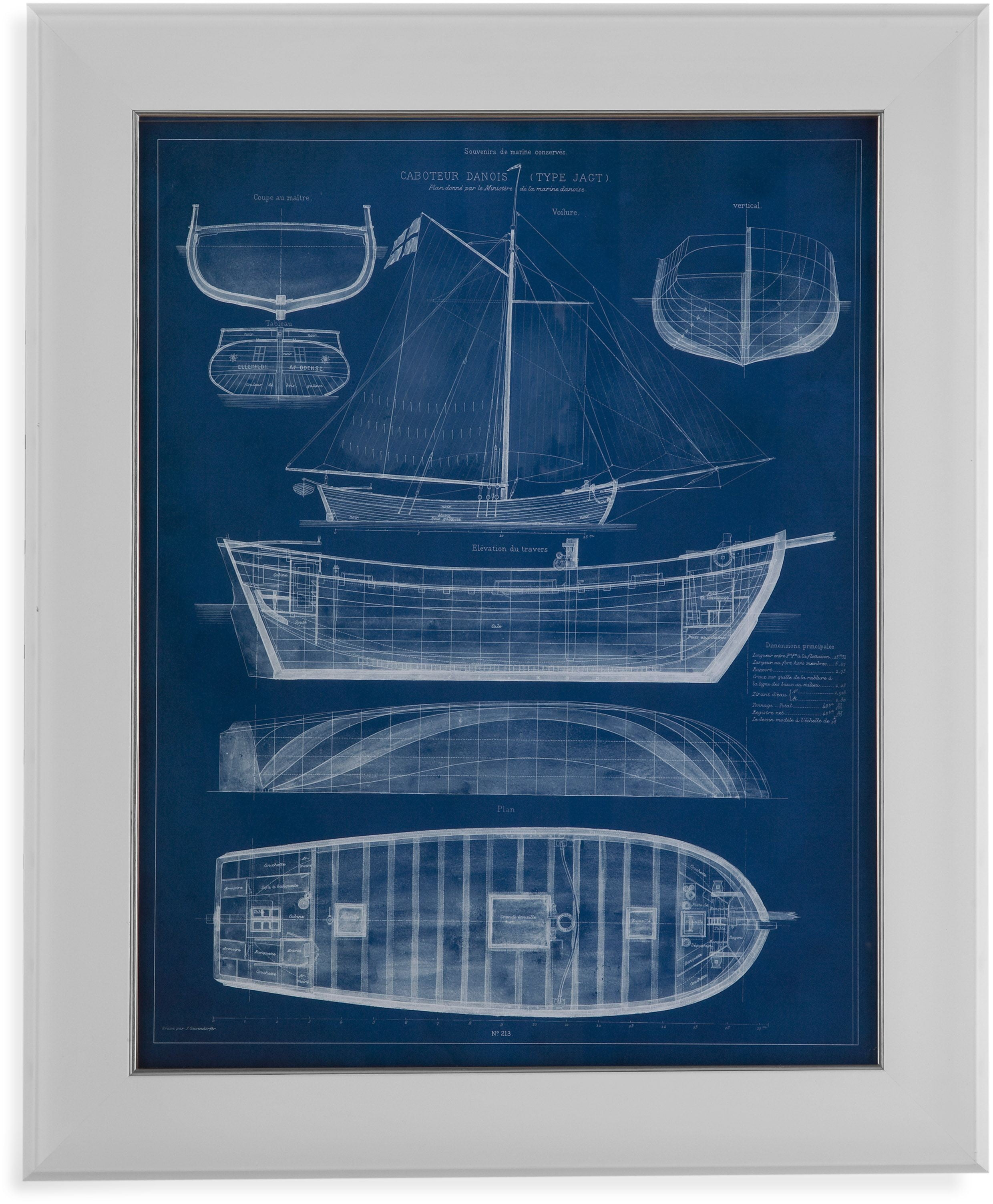 Trade blue antique ship blueprint il wall art from bassett mirror trade blue antique ship blueprint il wall art malvernweather Image collections