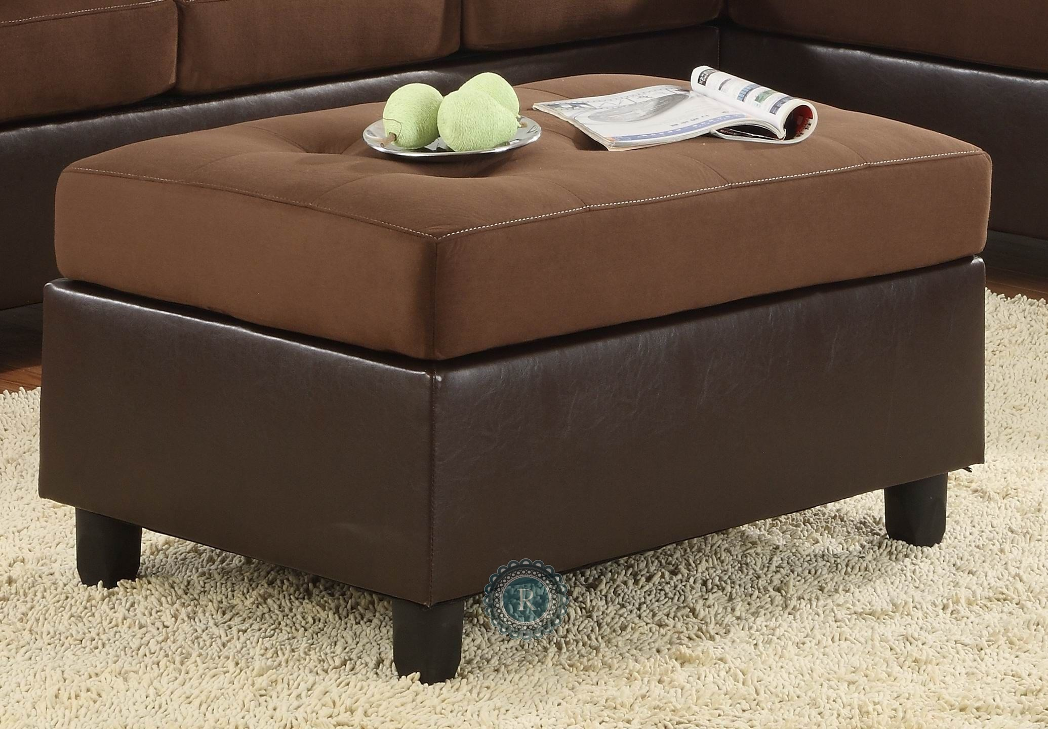 Comfort living chocolate ottoman from homelegance 9909ch for Comfort living furniture