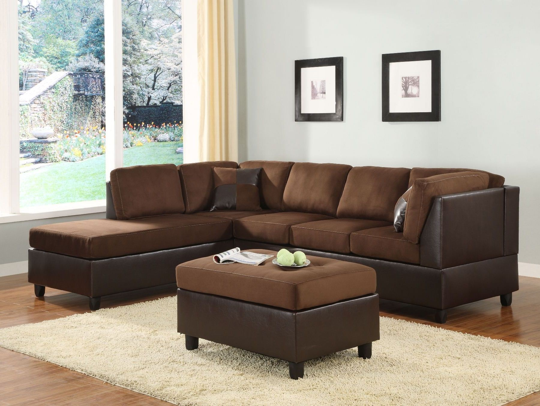 Comfort Living Dark Left Arm Facing Sectional From