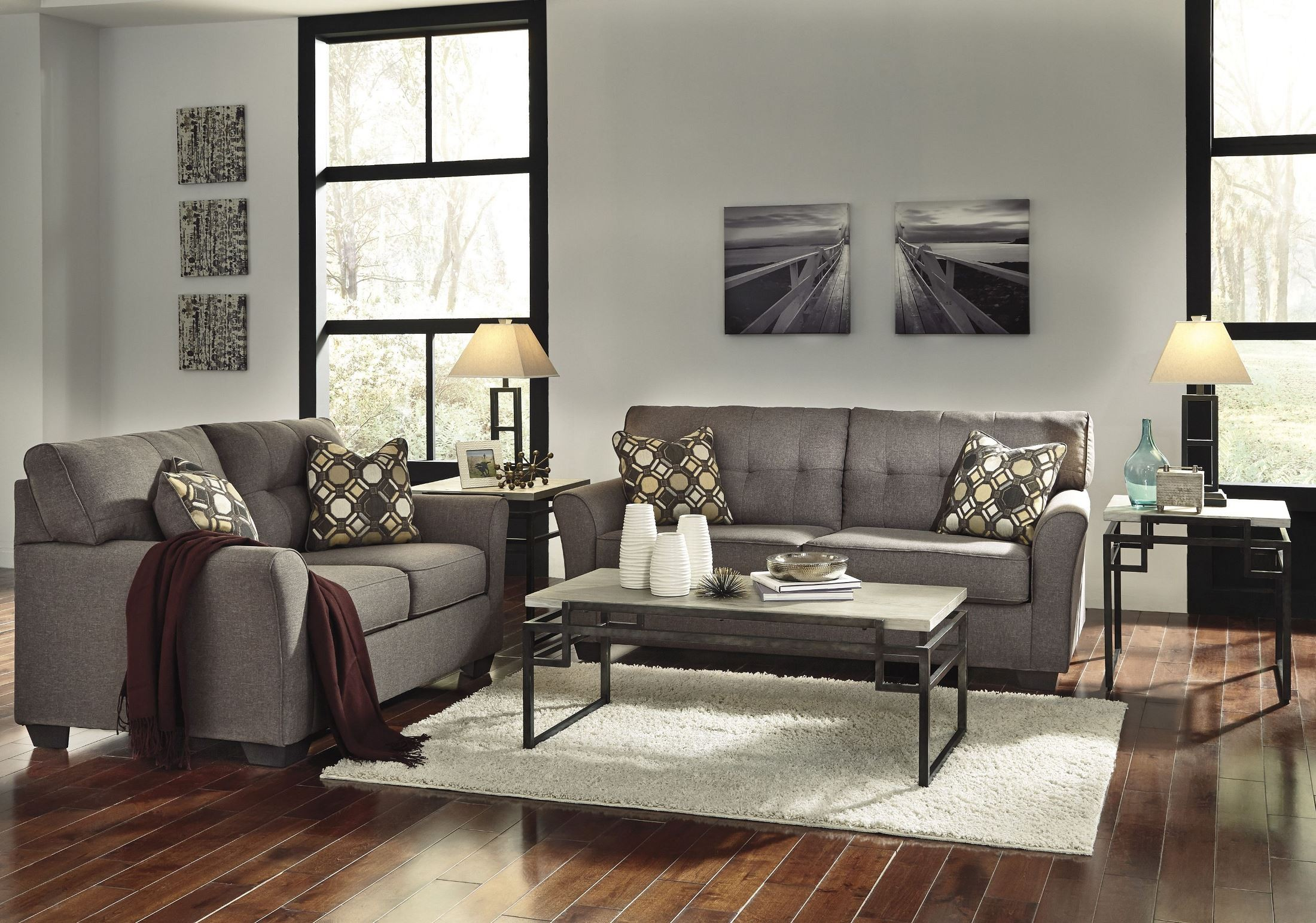 Tibbee Slate Chaise From Ashley 9910115 Coleman Furniture