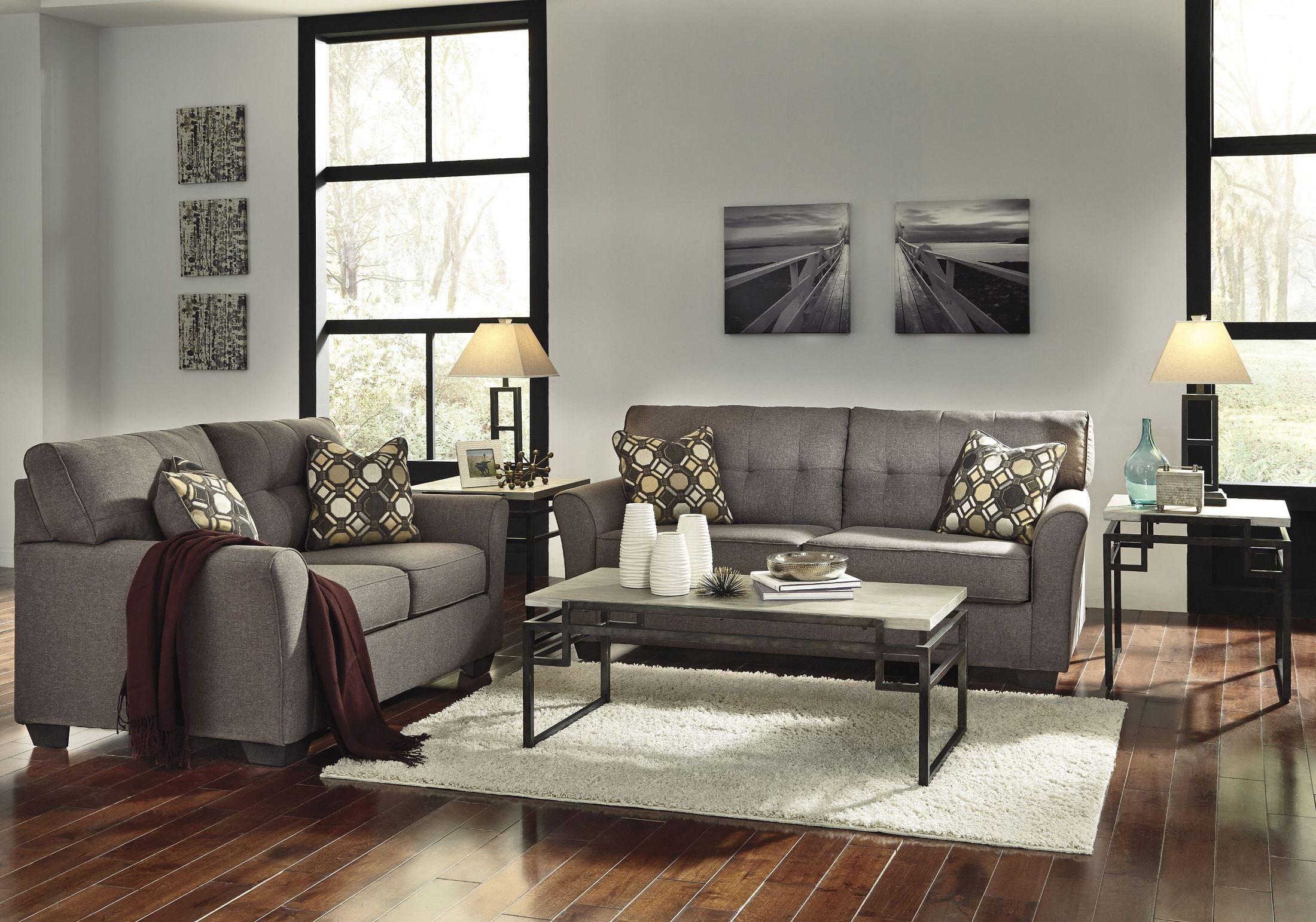 Tibbee Slate Sofa From Ashley 9910138 Coleman Furniture