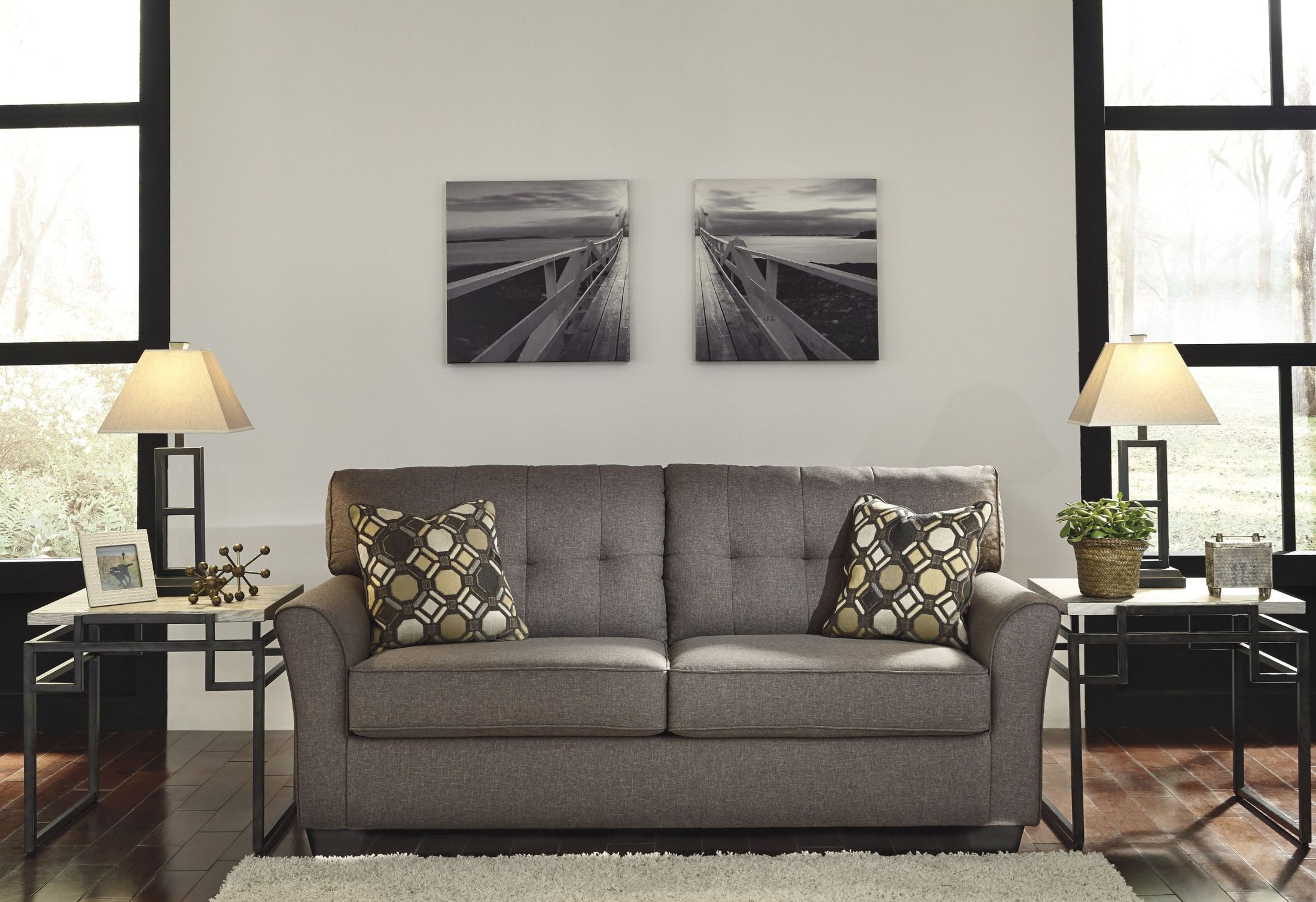 tibbee slate sofa from ashley 9910138 coleman furniture