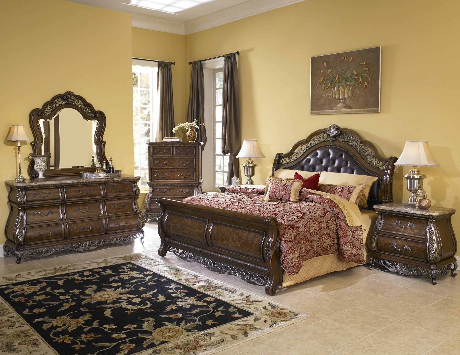 Birkhaven bedroom set from pulaski 9911 coleman furniture - King size bedroom sets for sale by owner ...