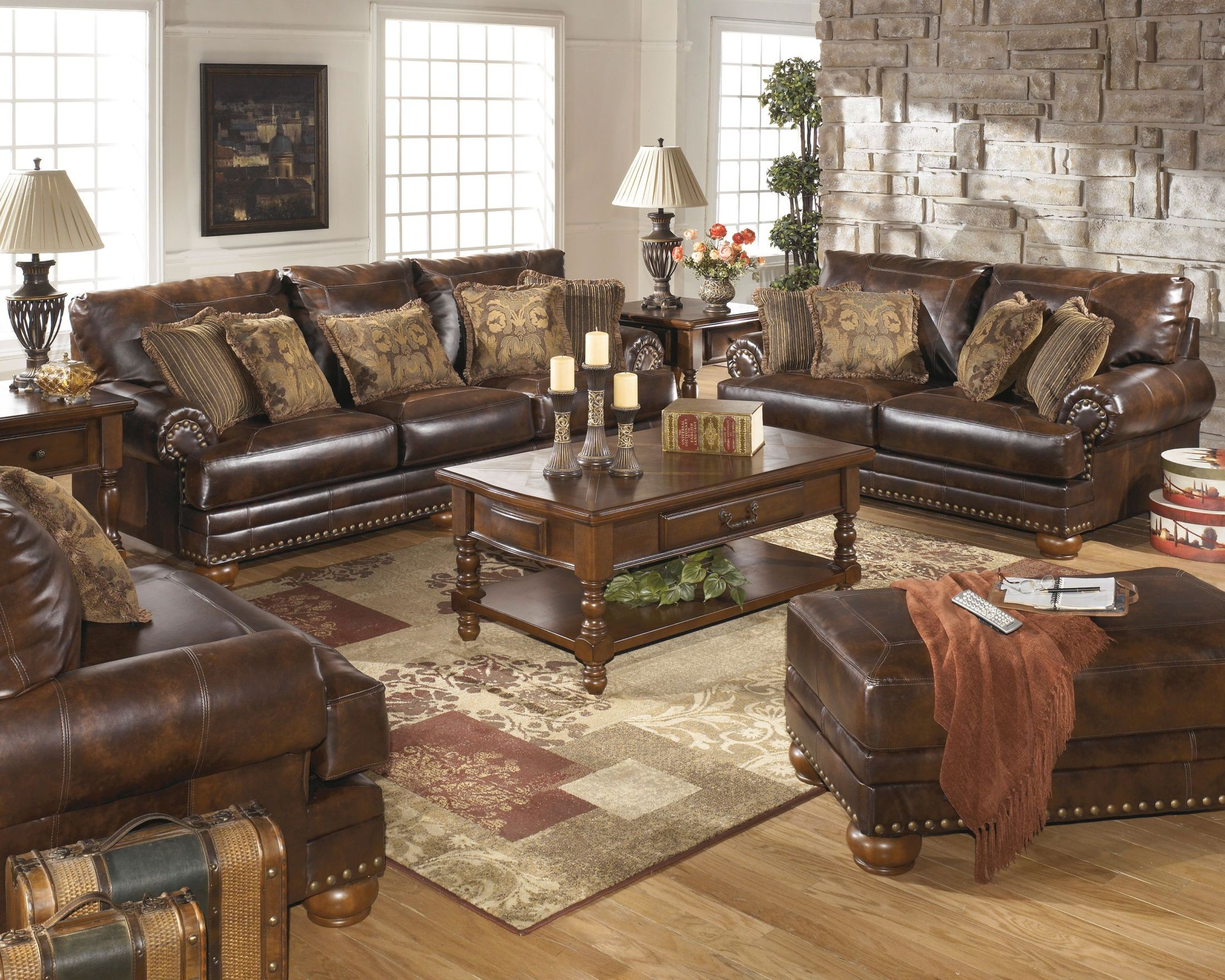 Chaling DuraBlend Antique Living Room Set From Signiture Design By Ashley ·  2295754