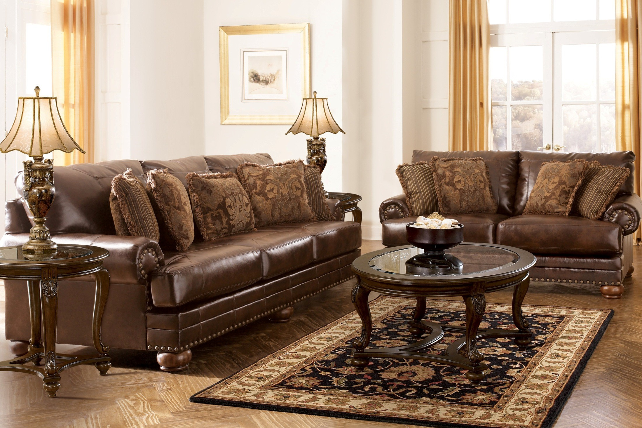 Chaling Durablend Antique Living Room Set From Ashley