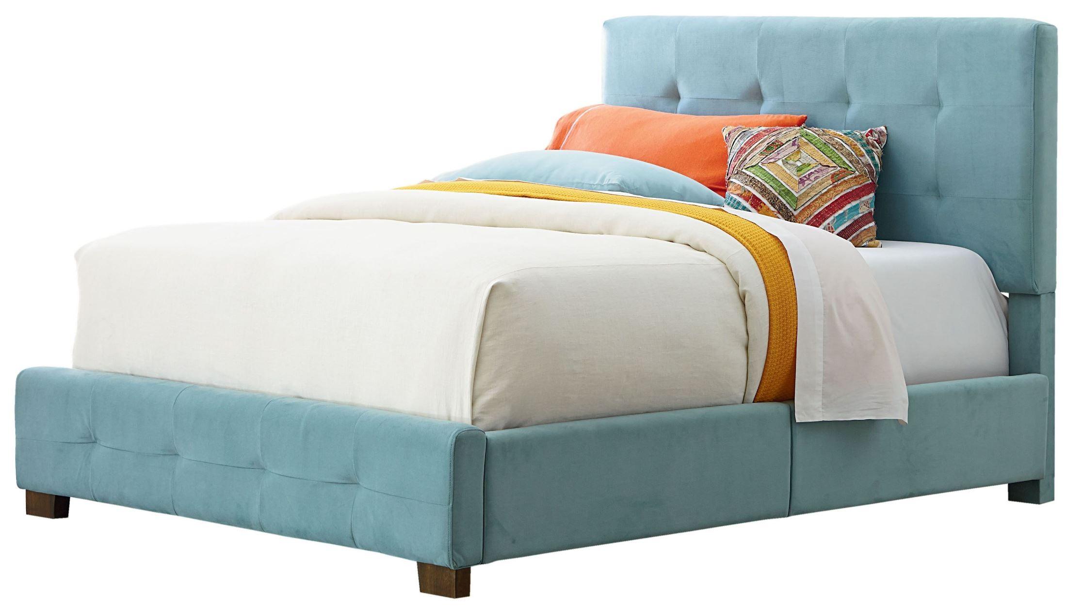 Madison blue full upholstered bed from standard furniture for Upholstered full bed