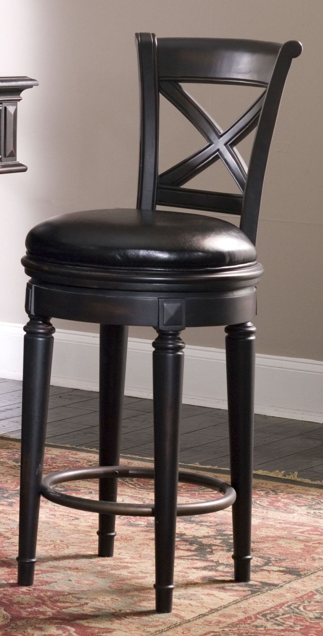 Brookfield bar stool from pulaski 993501 coleman furniture - Average height of bar stools ...