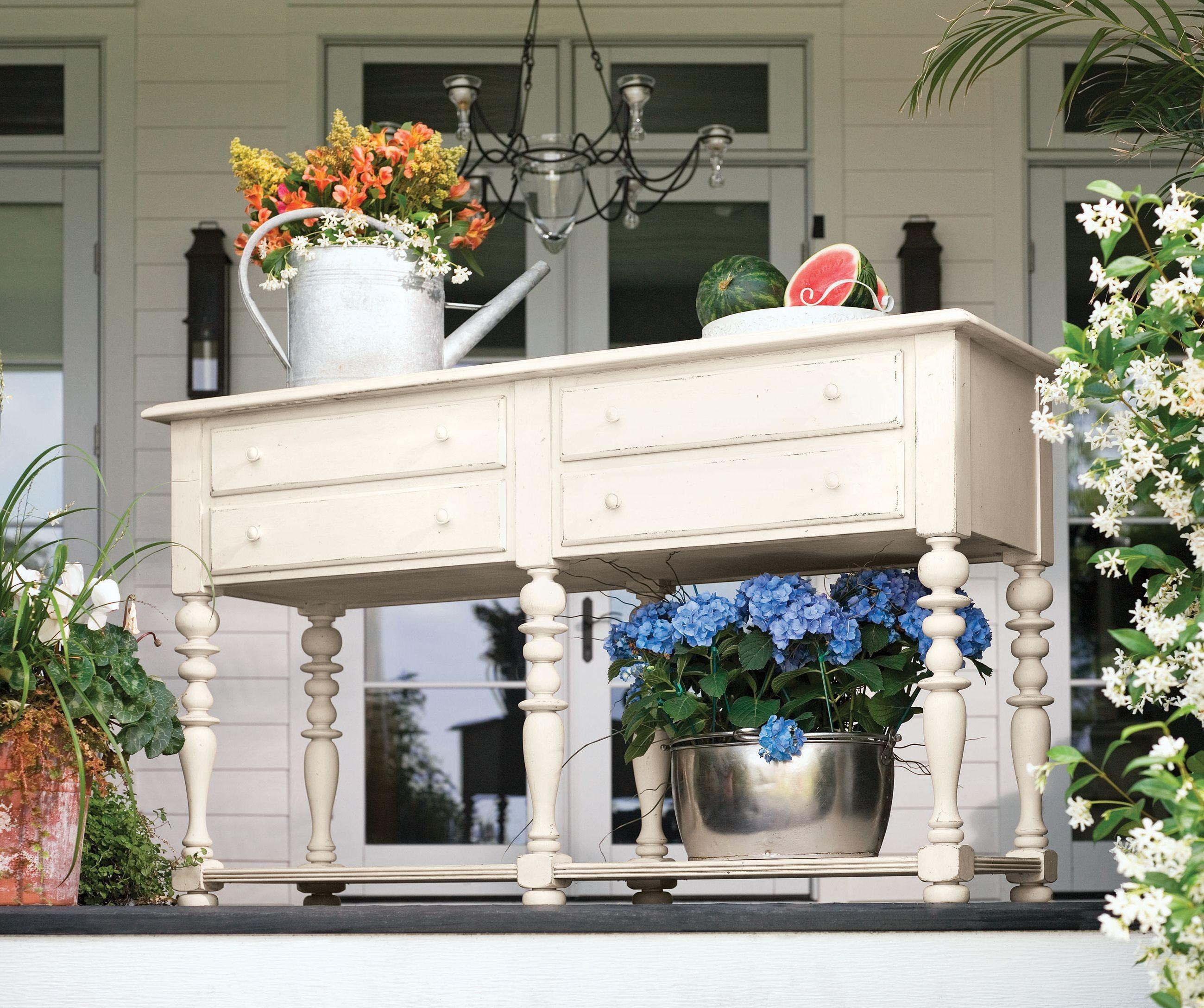 Paula Deen Dining Room: Paula Deen Home Linen Round Pedestal Extendable Dining