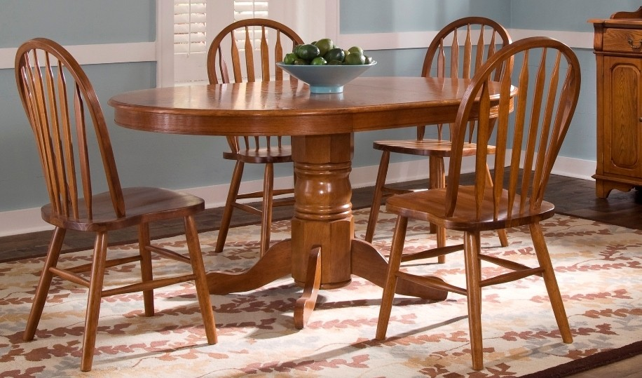 nostalgia oval dining room set from liberty (10-p520) | coleman