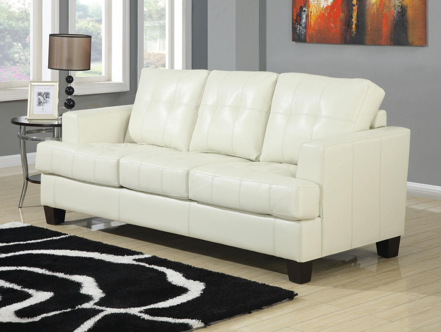 cream leather living room chairs samuel cream leather living room set 501691 from coaster 13608 | 9 1 2